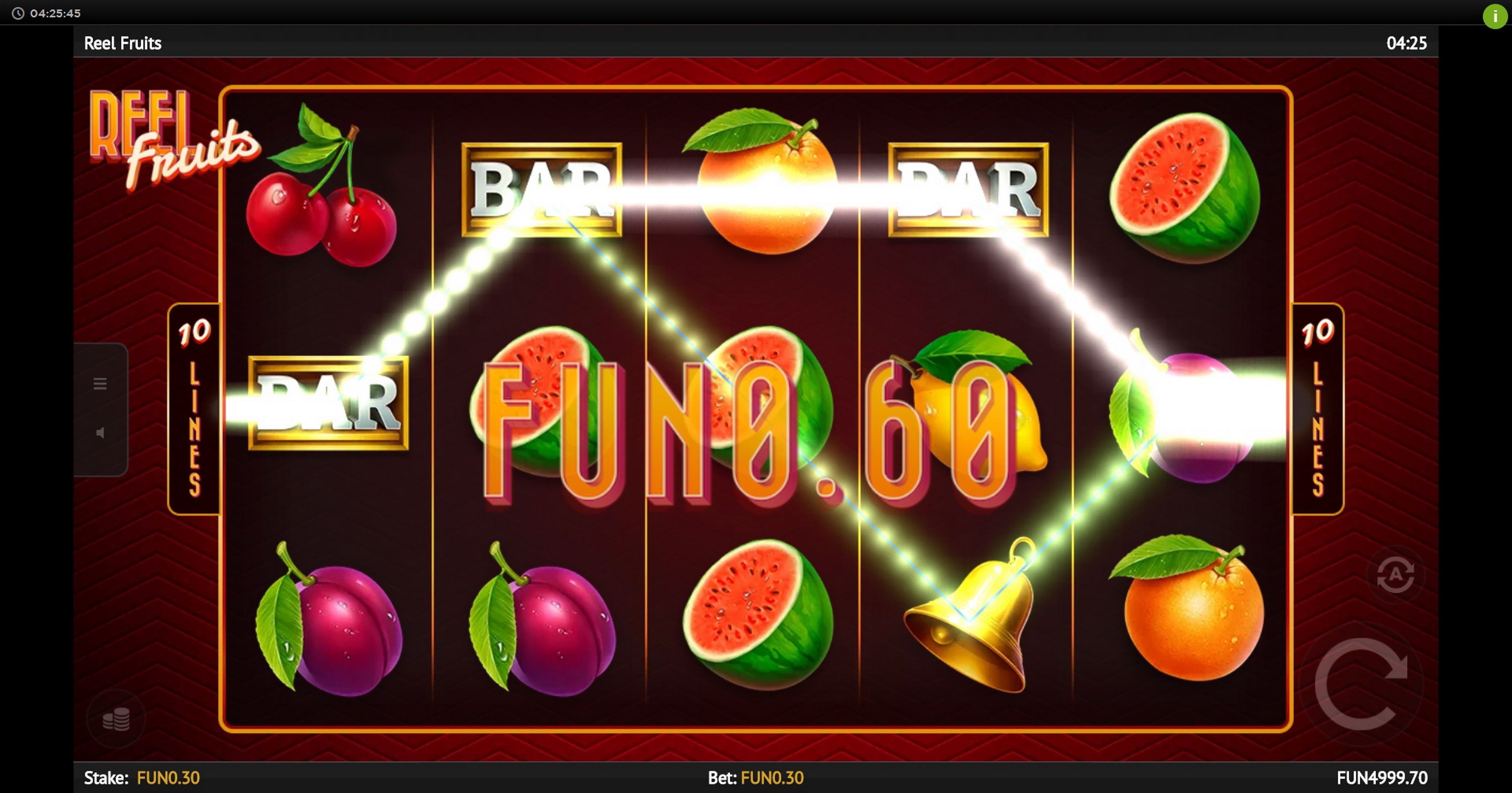 Win Money in Reel Fruits! Free Slot Game by 1x2 Gaming