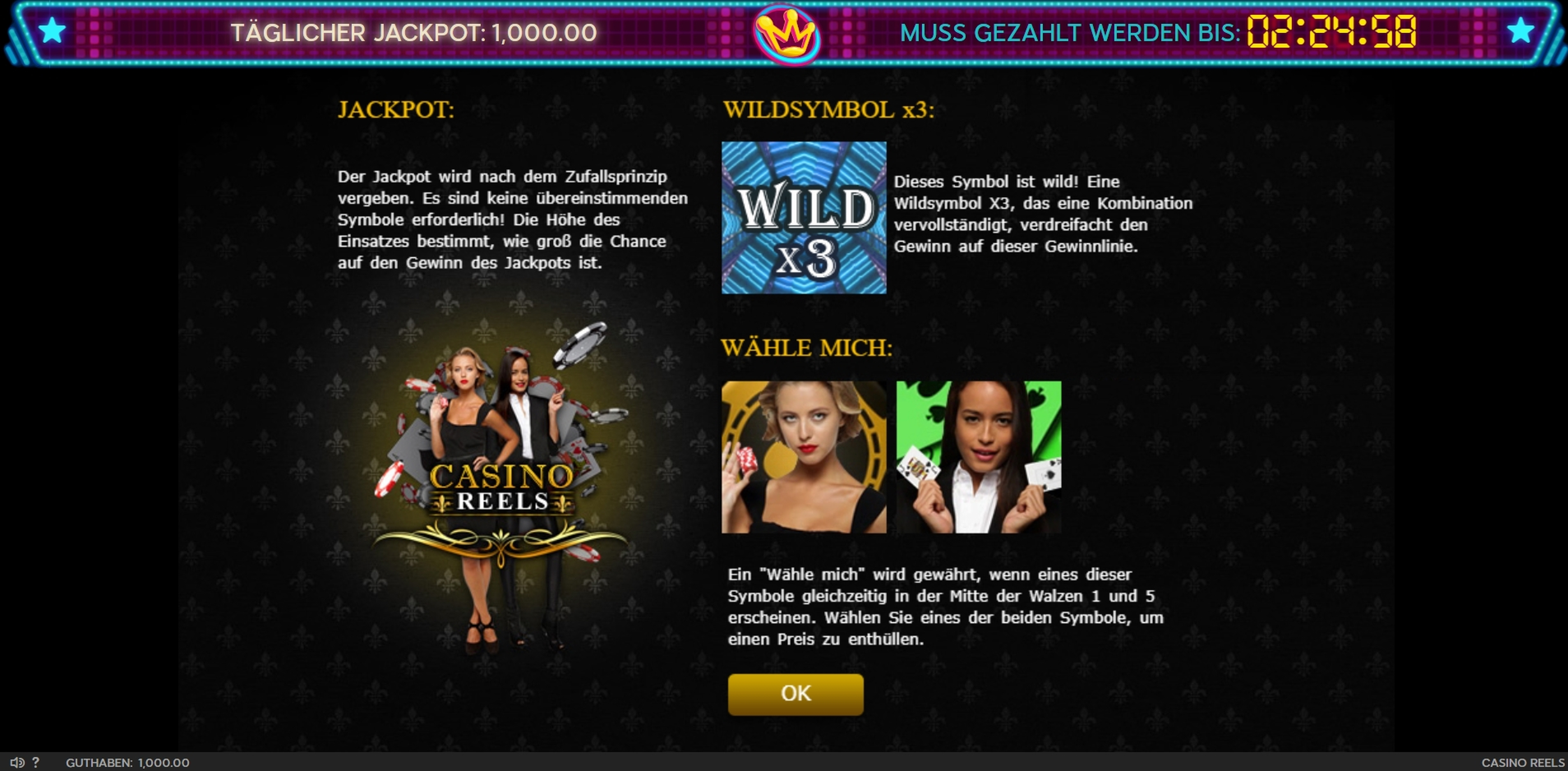 Play Casino Reels Free Casino Slot Game by 888 Gaming