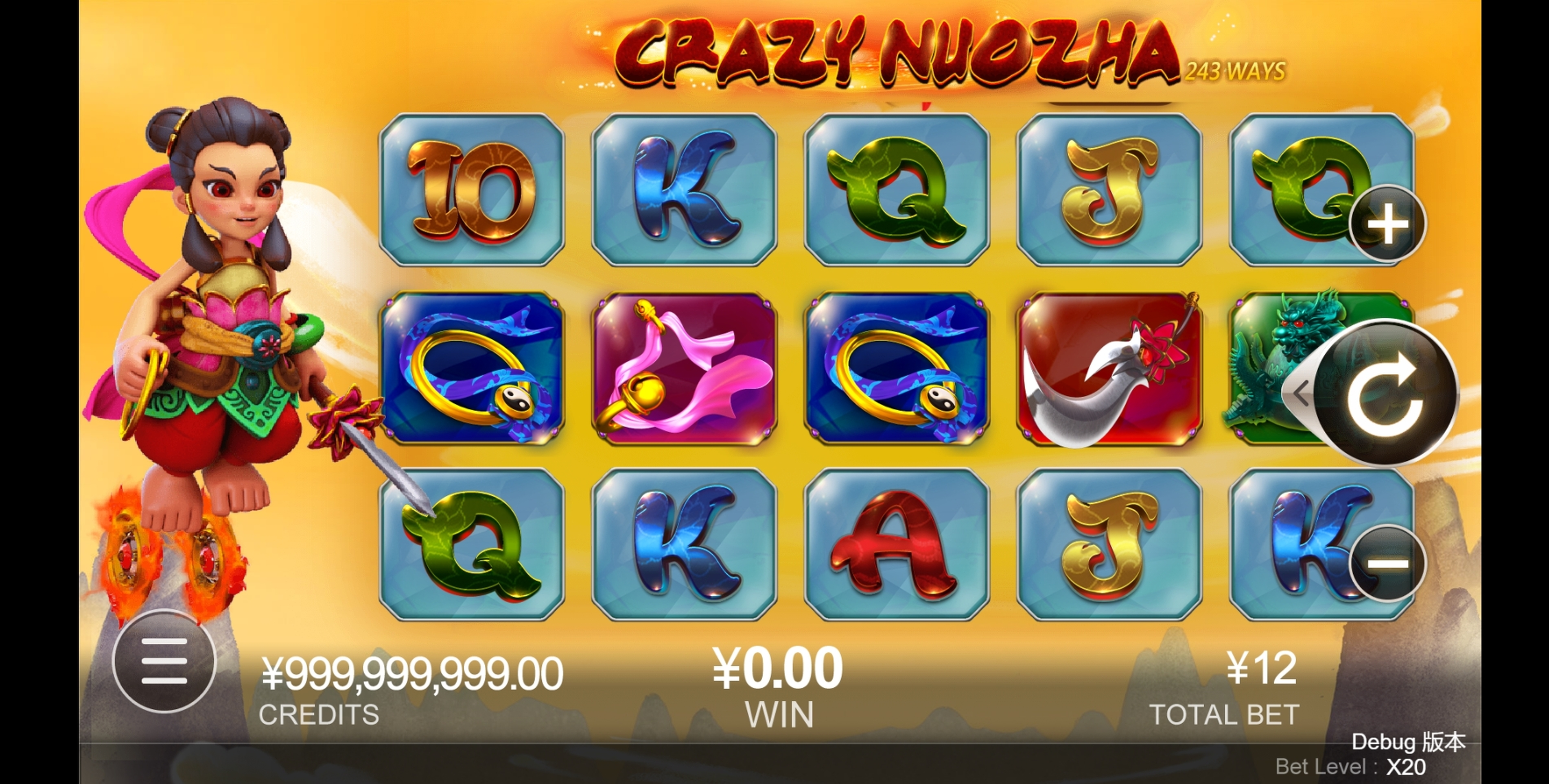 Reels in Crazy Nuozha Slot Game by CQ9Gaming