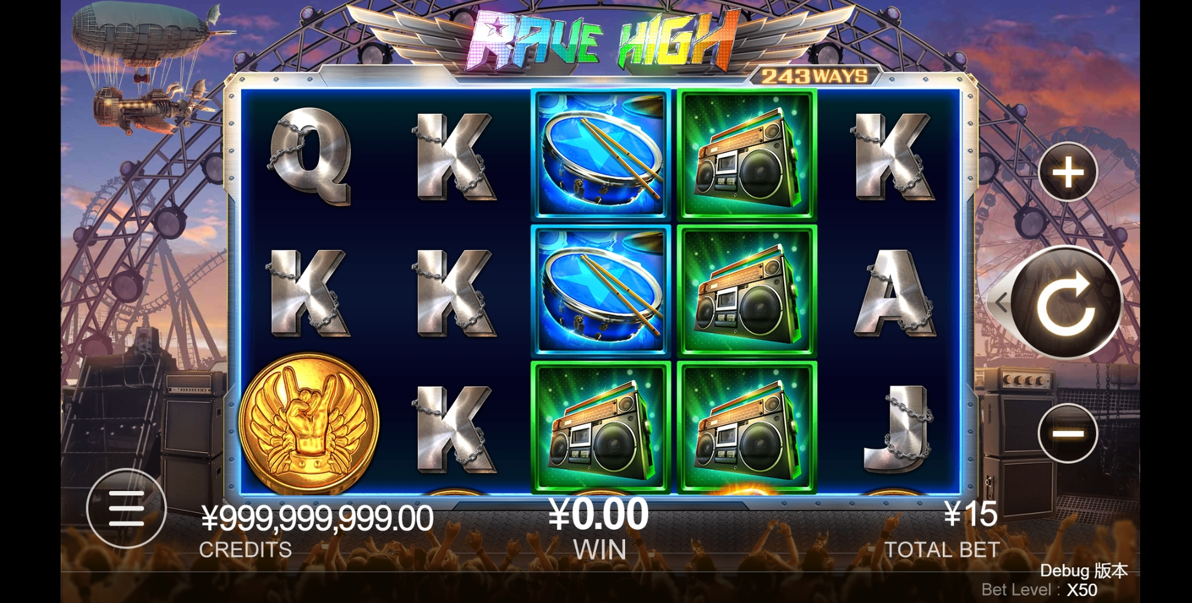 Reels in Rave High Slot Game by CQ9Gaming