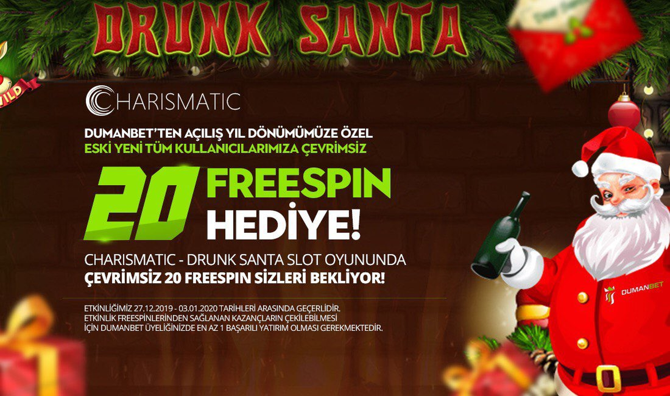 The Drunk Santa Online Slot Demo Game by Charismatic