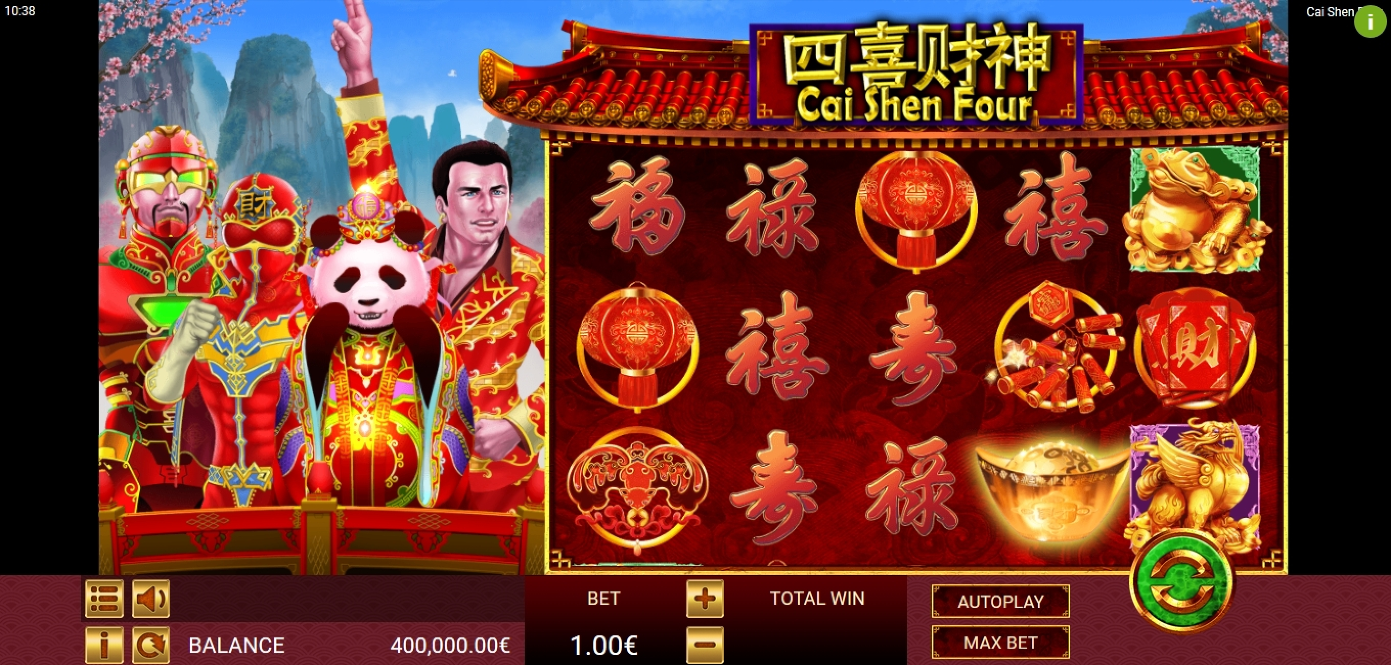 Reels in Cai Shen Four Slot Game by Gamatron