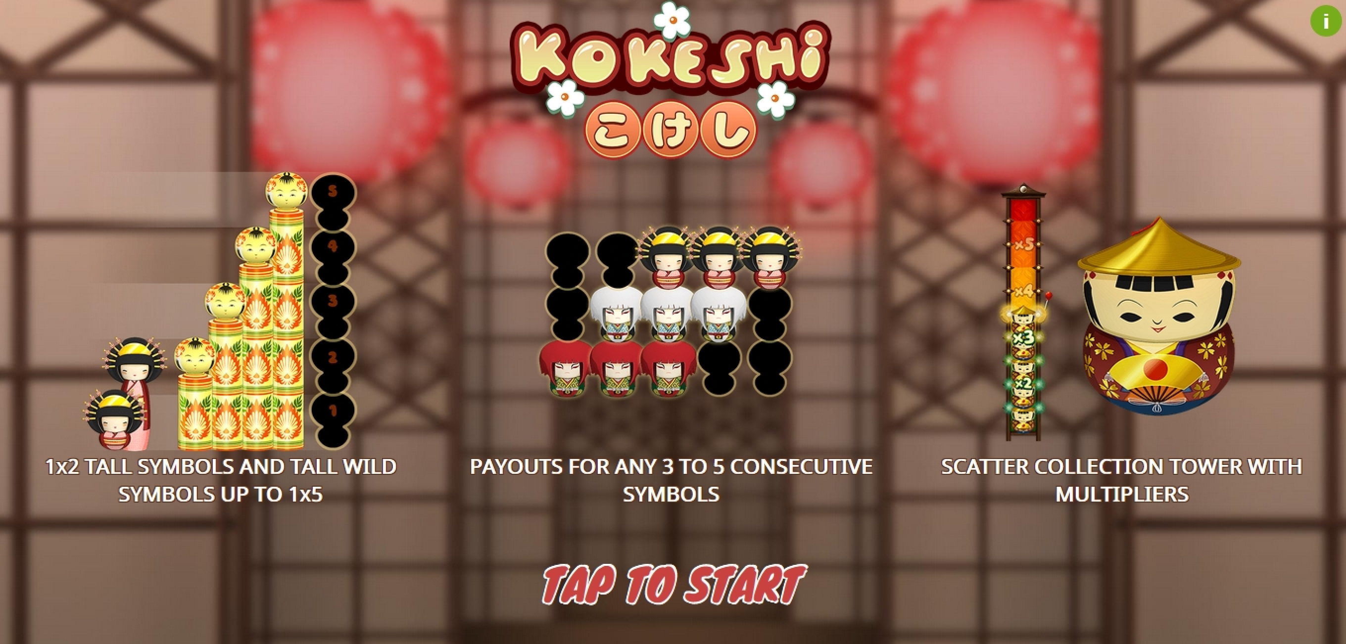 Play Kokeshi Free Casino Slot Game by Gamatron