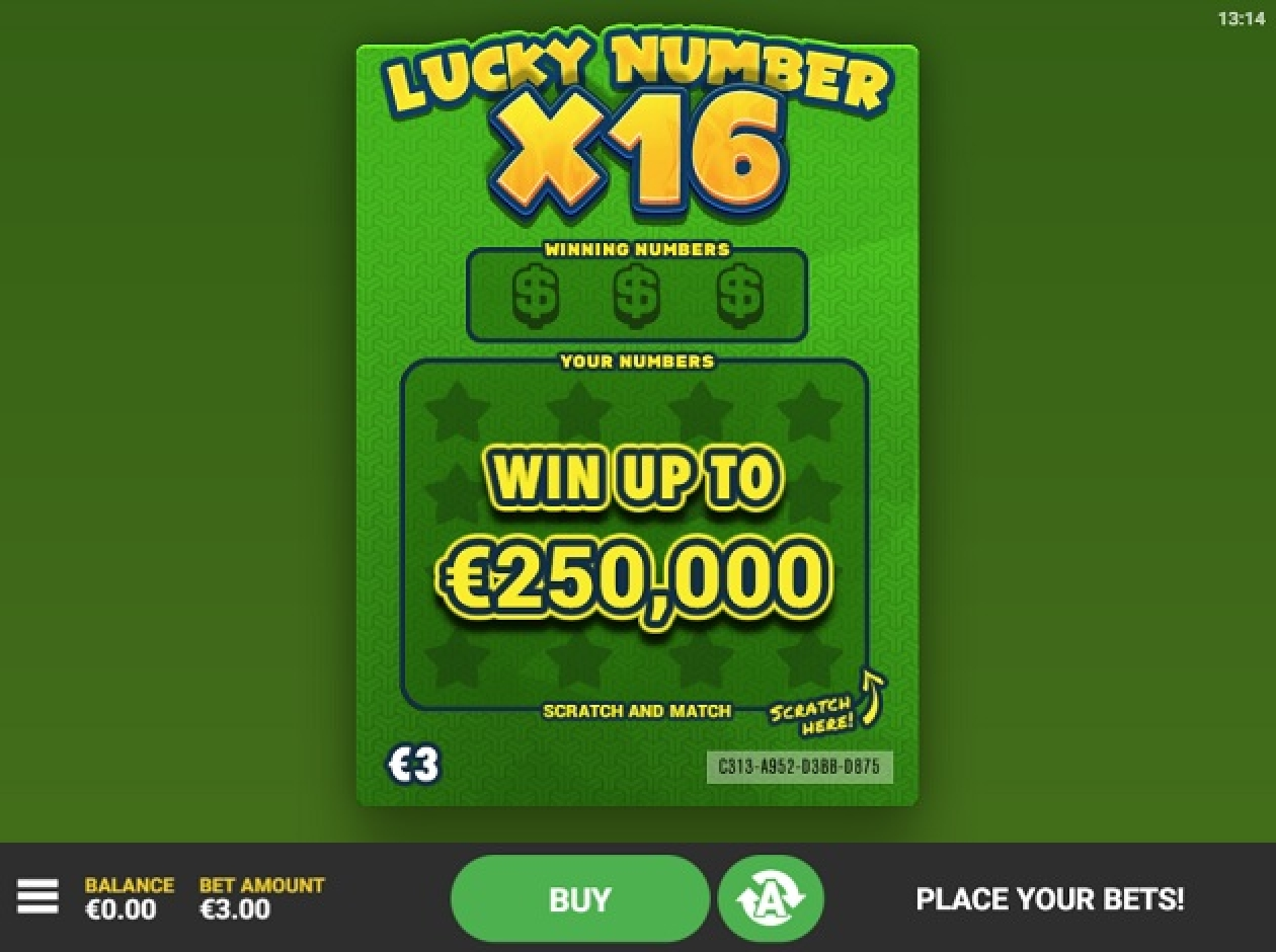 The Lucky Number x16 Online Slot Demo Game by Hacksaw Gaming