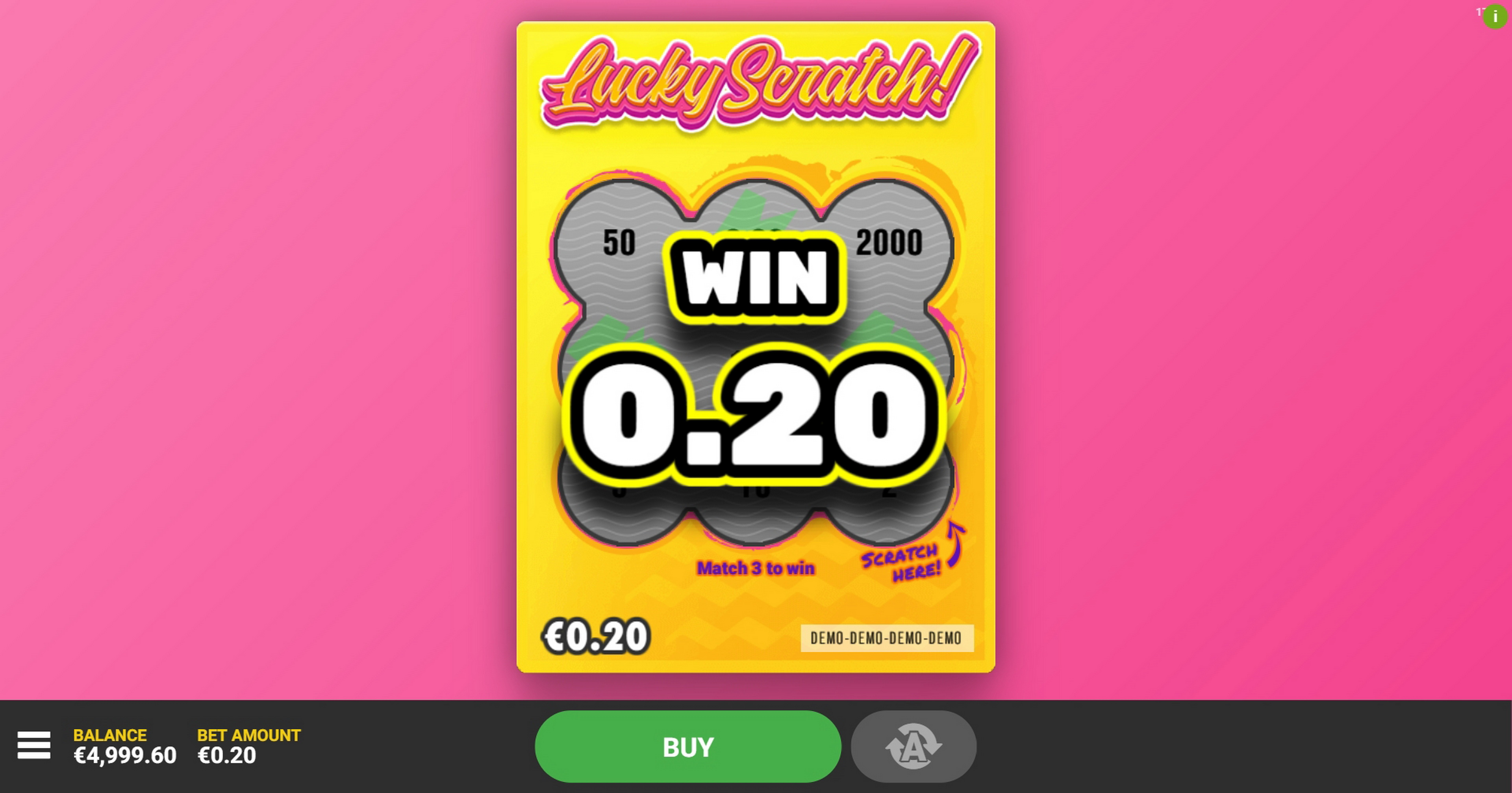 Win Money in Lucky Scratch (Hacksaw Gaming) Free Slot Game by Hacksaw Gaming