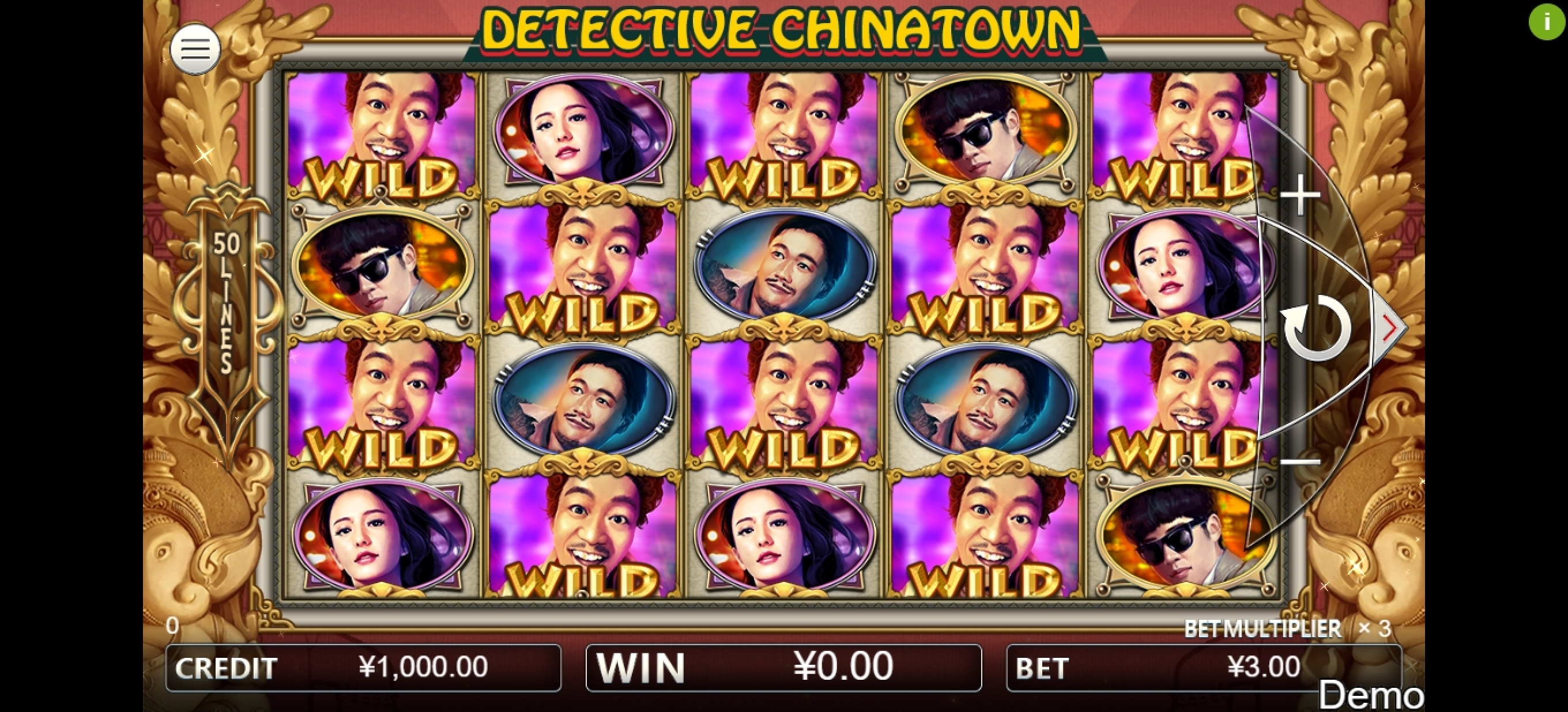 Reels in Detective Chinatown Slot Game by Iconic Gaming