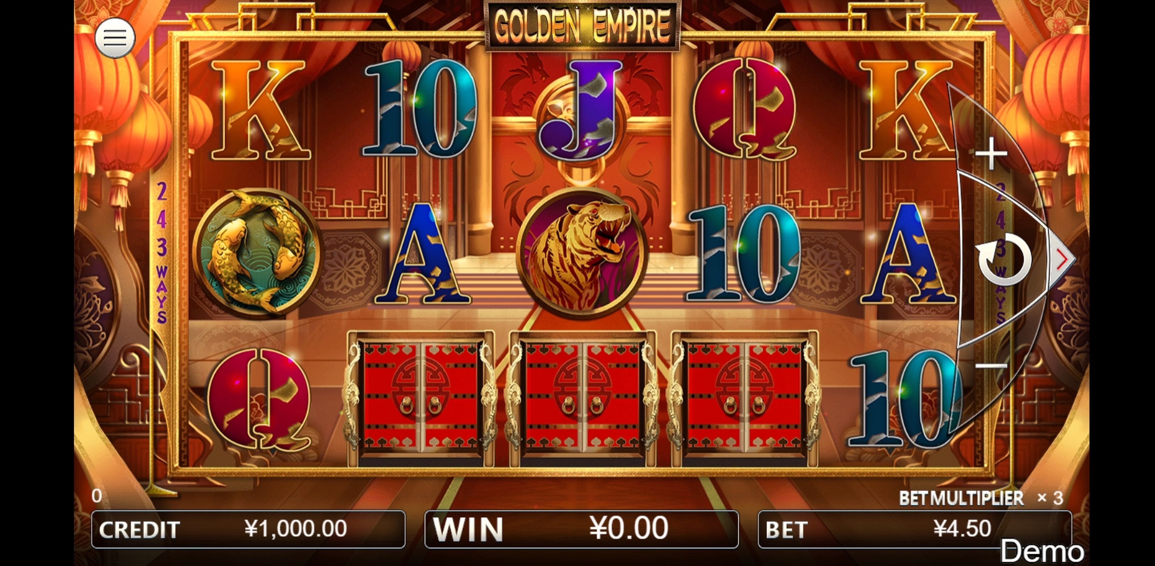 Reels in Golden Empire Slot Game by Iconic Gaming