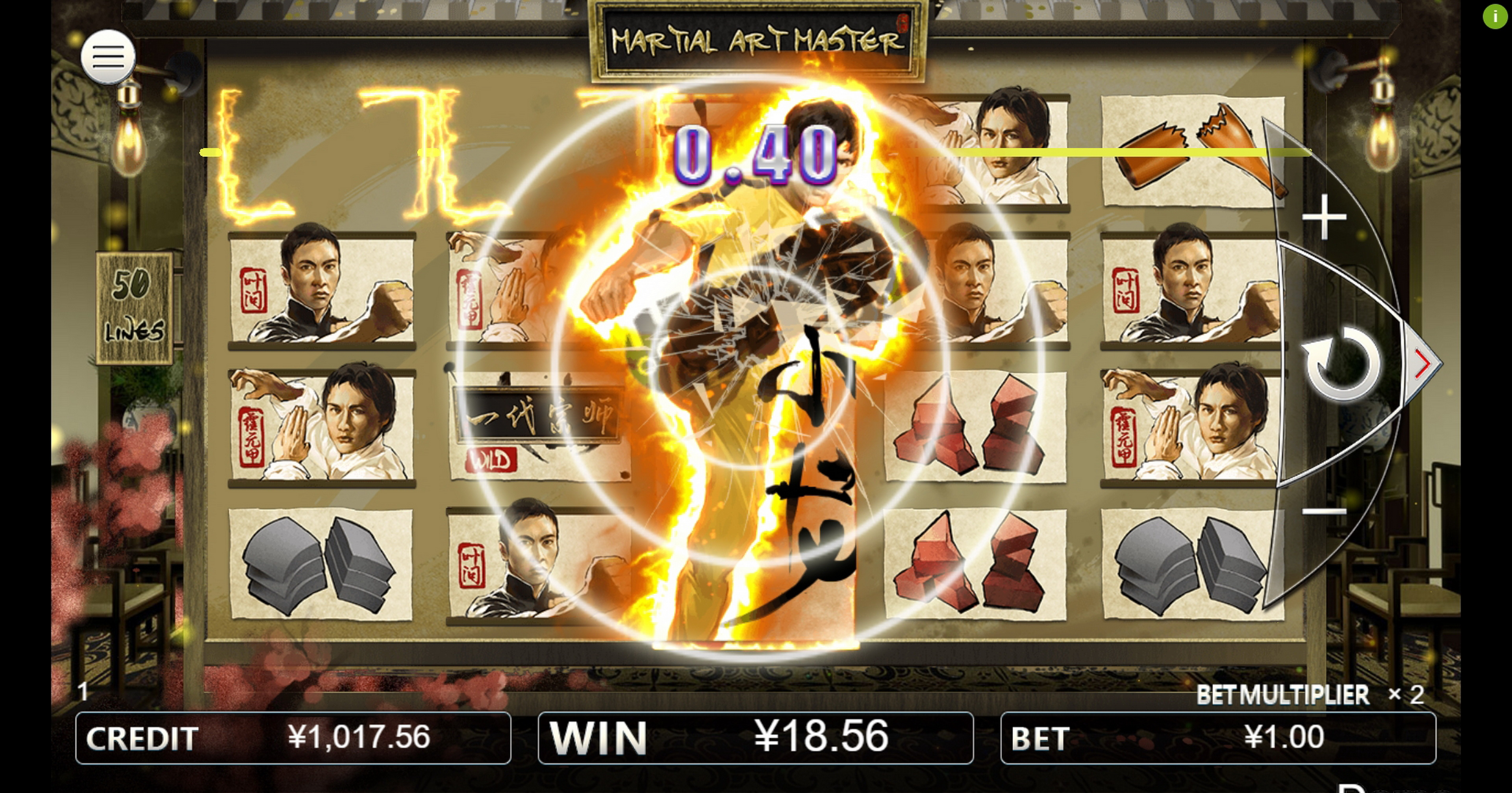 Win Money in Martial Art Master Free Slot Game by Iconic Gaming