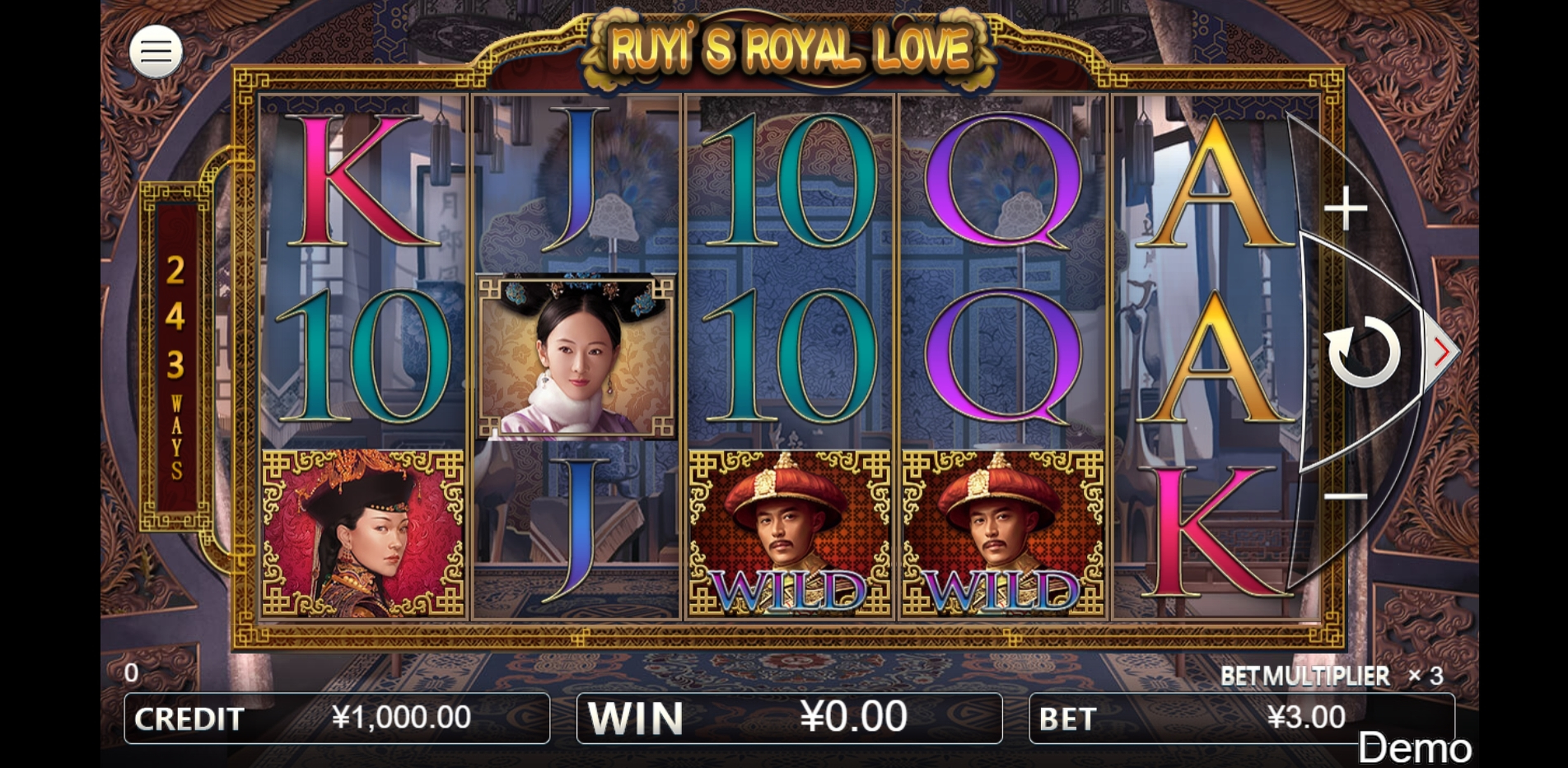 Reels in Ruyi's Royal Love Slot Game by Iconic Gaming