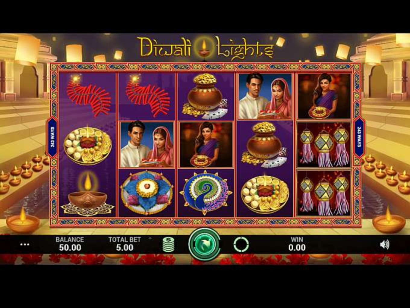 The Diwali Lights Online Slot Demo Game by Indi Slots