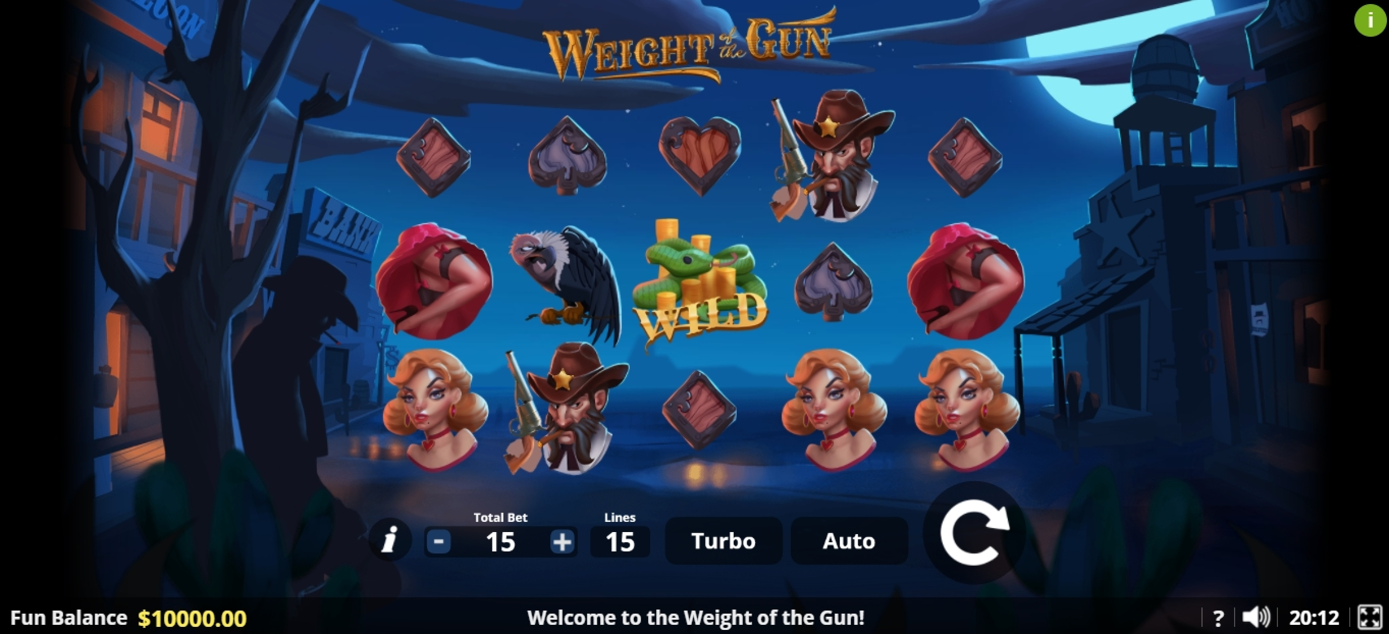 Reels in Weight of the Gun Slot Game by Lady Luck Games