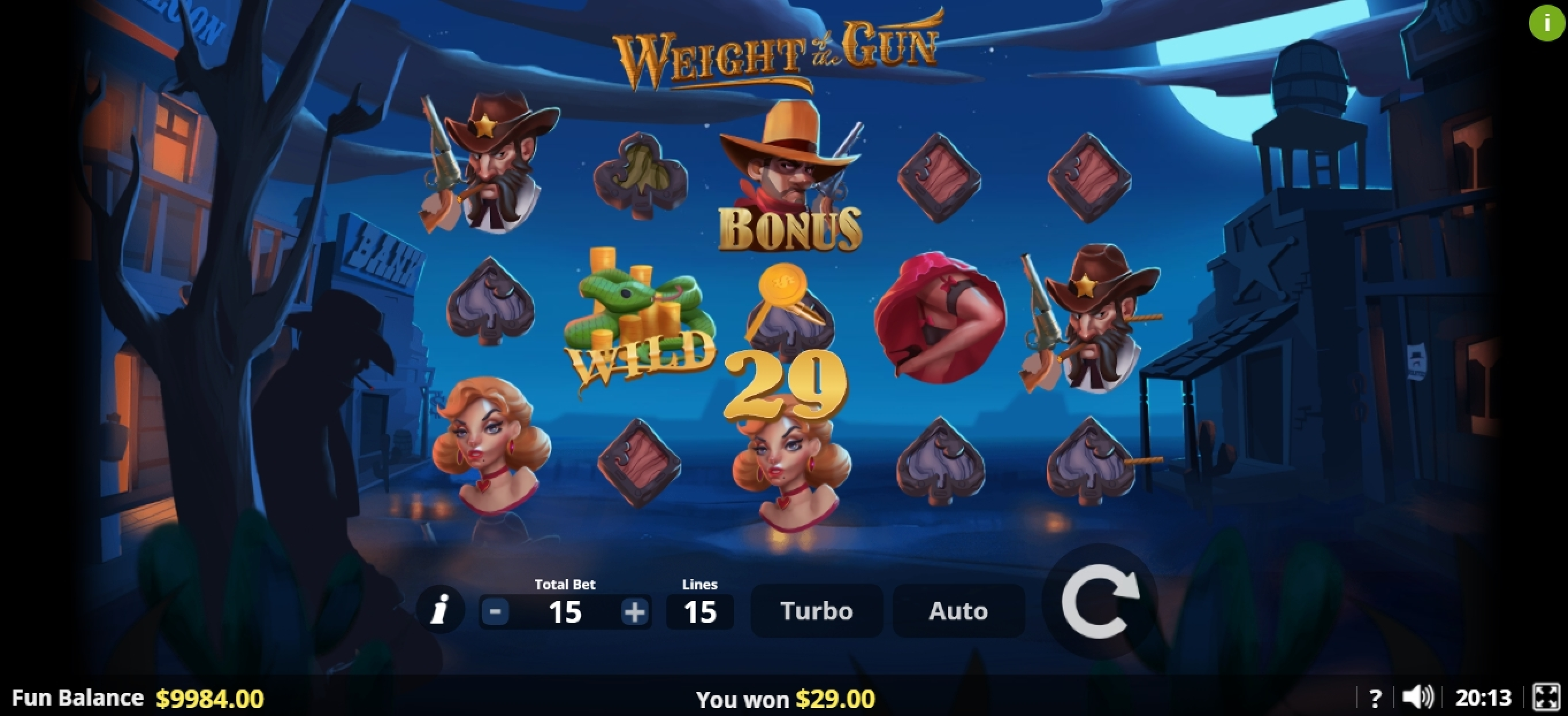 Win Money in Weight of the Gun Free Slot Game by Lady Luck Games
