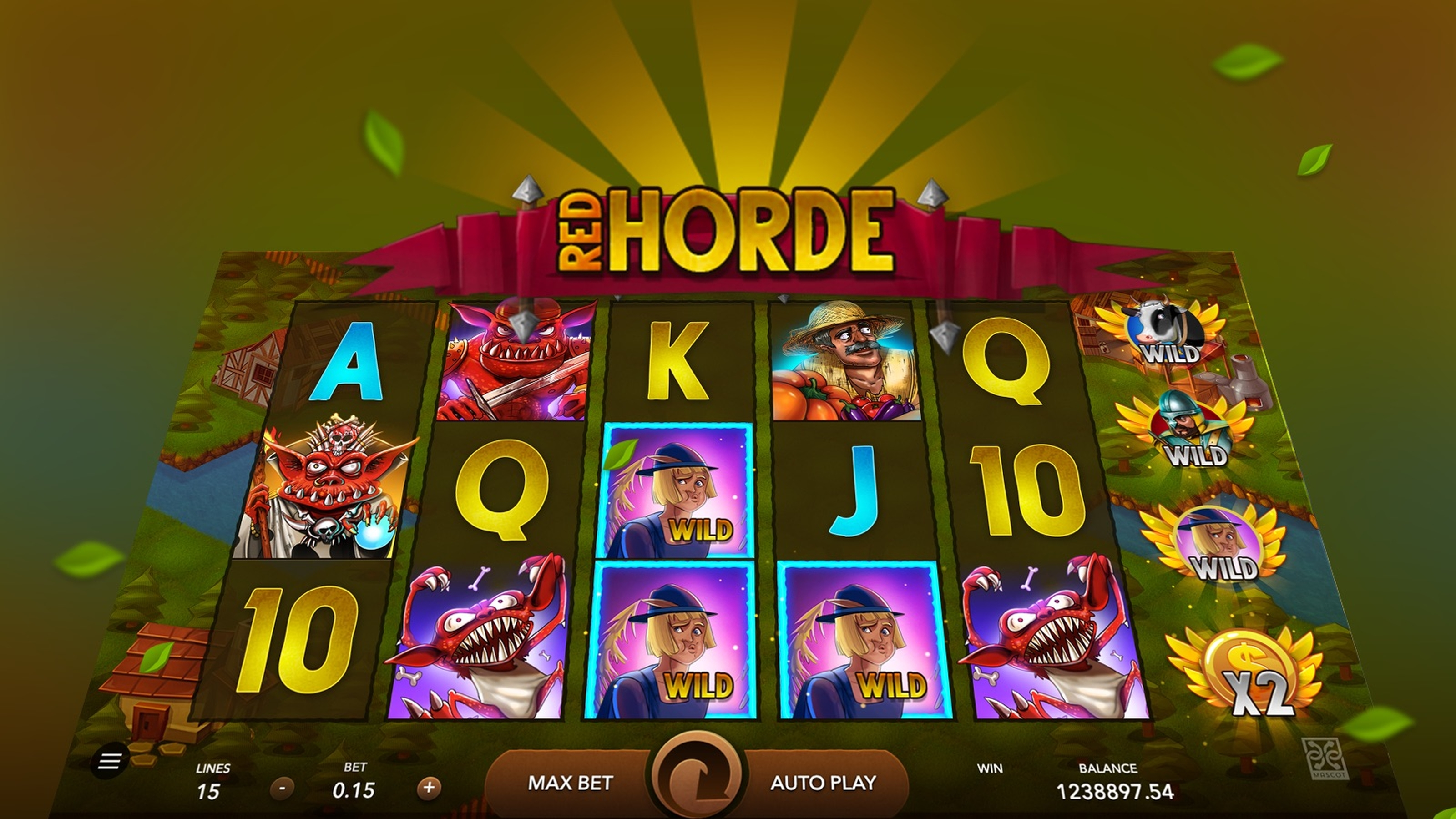 The Red Horde Online Slot Demo Game by Mascot Gaming