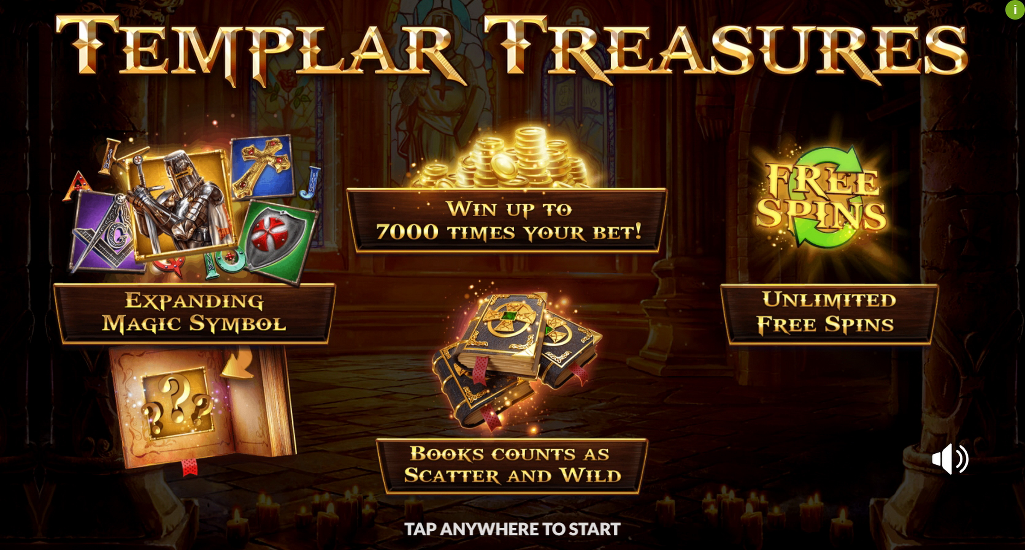 Play Templar Treasures Free Casino Slot Game by Slotmill