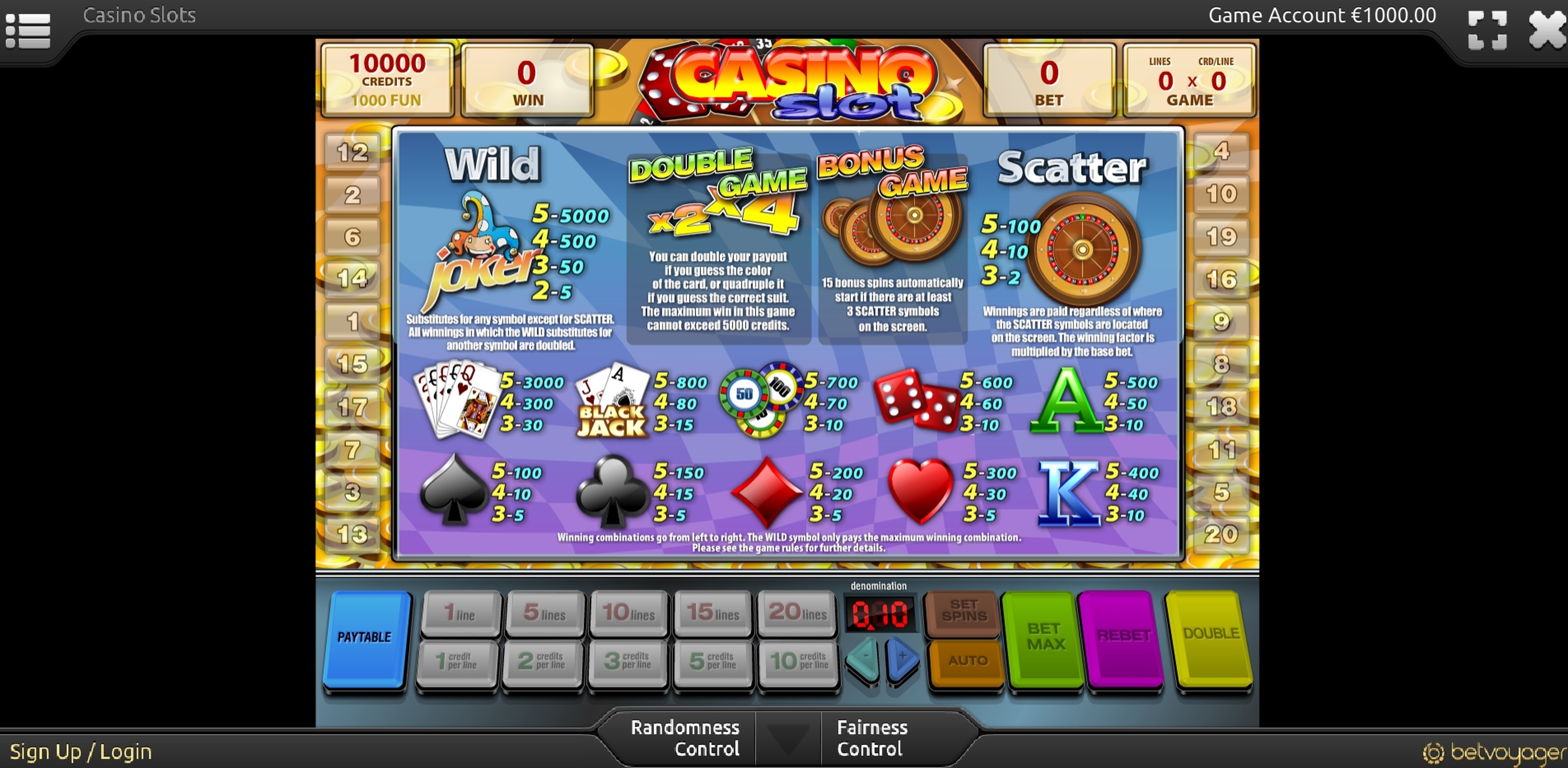 Info of Casino Slot Slot Game by Smartsoft Gaming