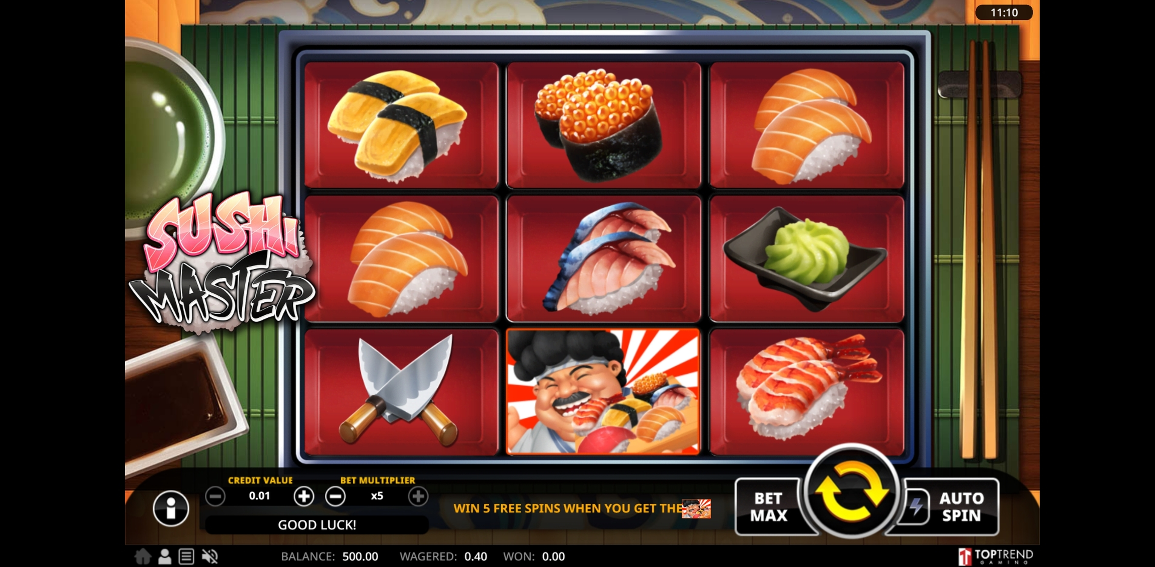 Win Money in Sushi Master Free Slot Game by Swintt