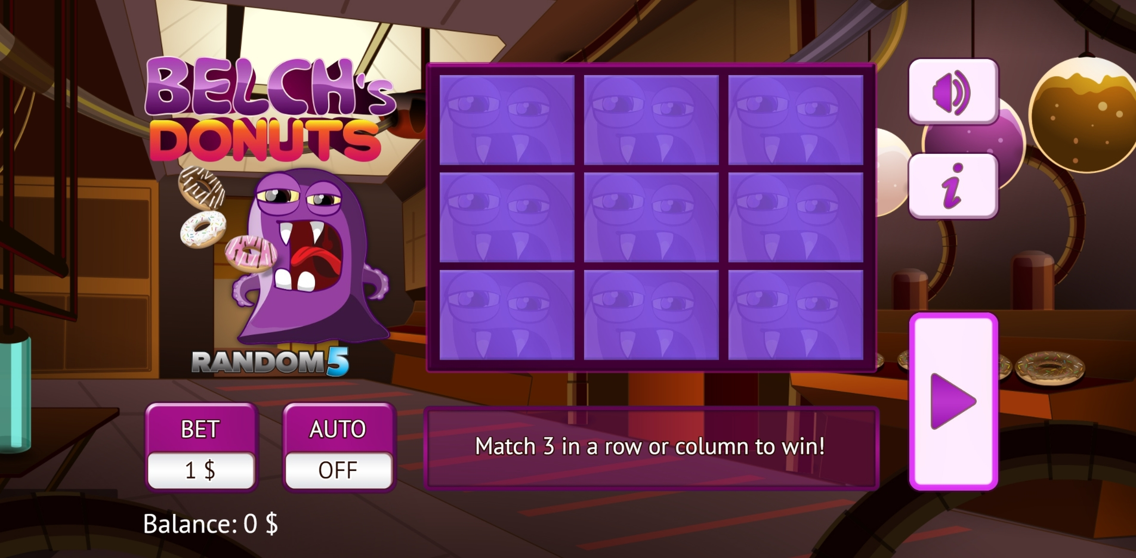 Play Belch's Donuts Free Casino Slot Game by Vermantia