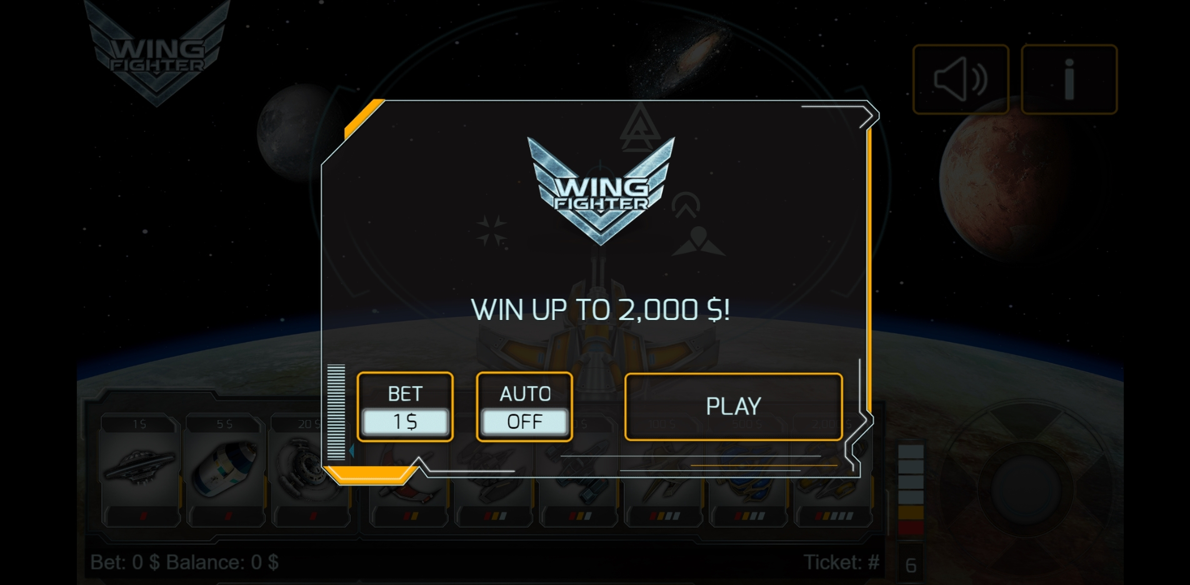 Play Wing Fighter Free Casino Slot Game by Vermantia