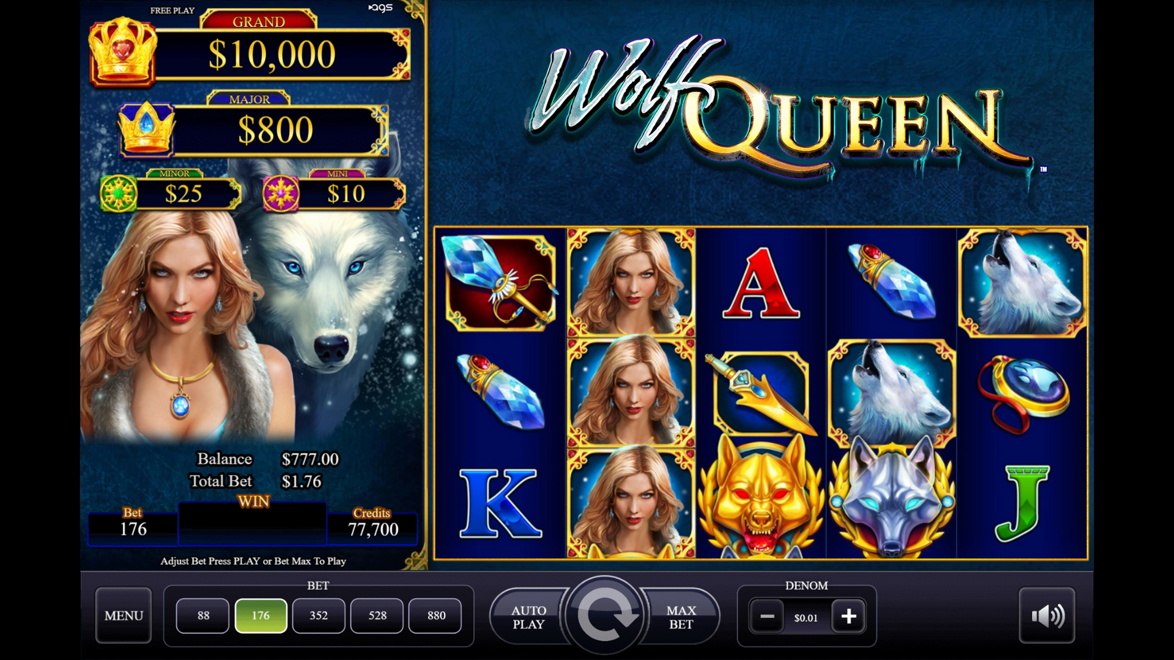 Reels in Wolf Queen Slot Game by AGS