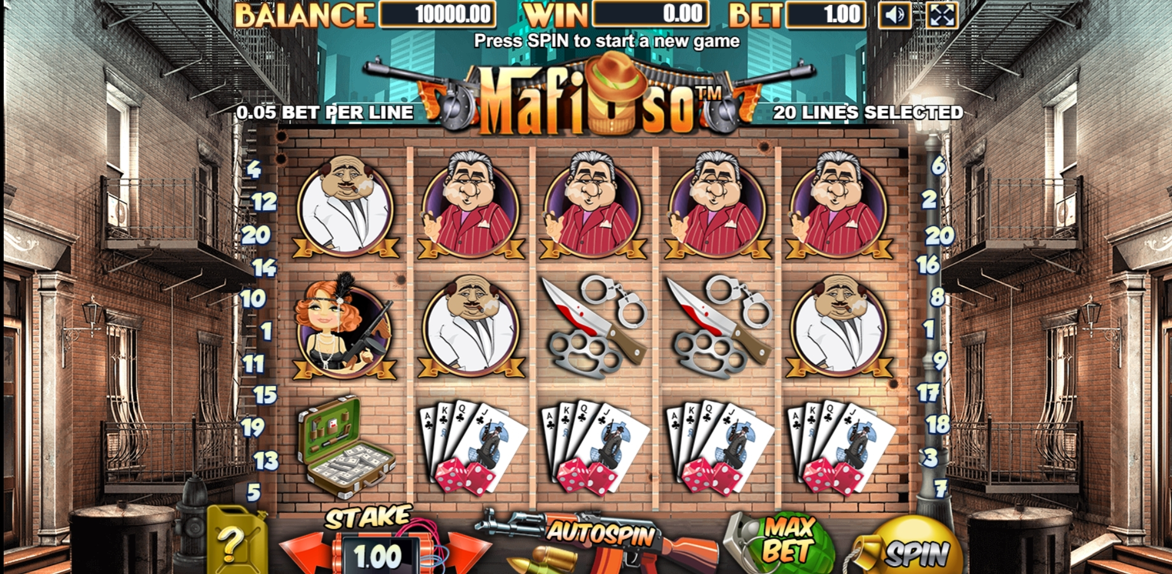 Reels in Mafioso (Allbet Gaming) Slot Game by Allbet Gaming