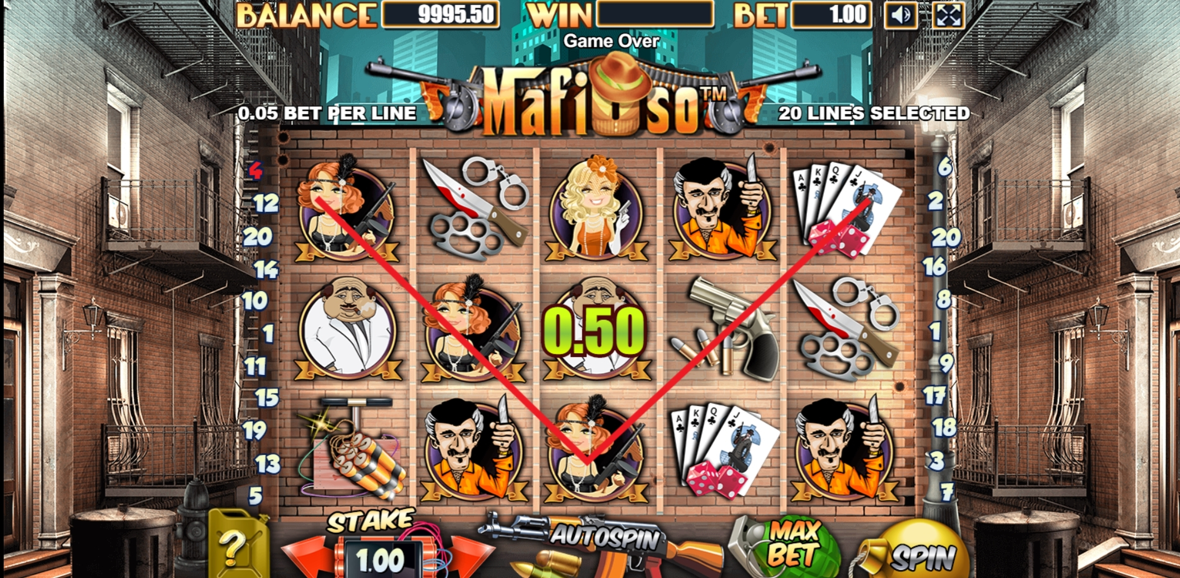 Win Money in Mafioso (Allbet Gaming) Free Slot Game by Allbet Gaming