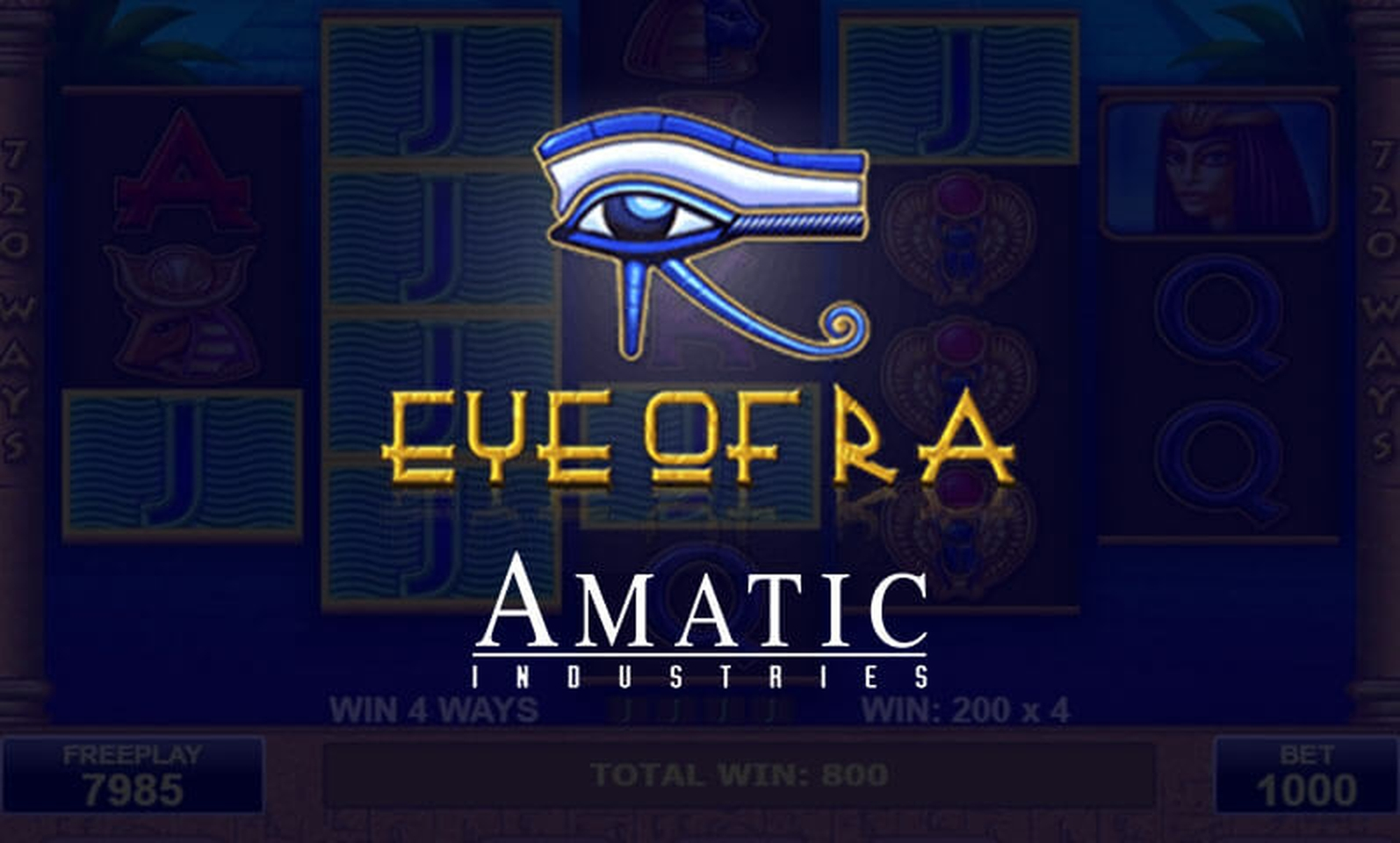 The Eye Of Ra Online Slot Demo Game by Amatic Industries