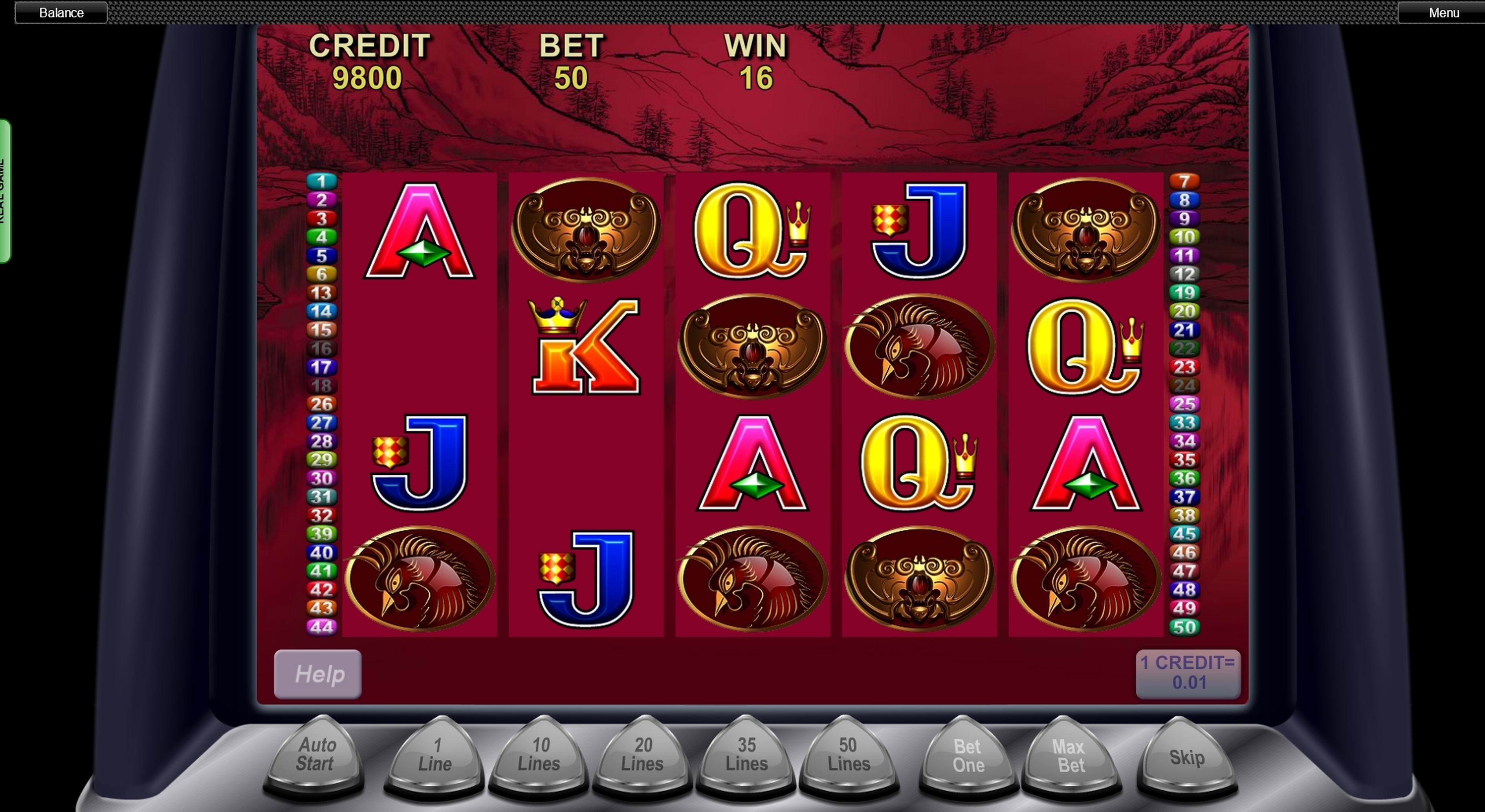 Win Money in 50 Dragons Free Slot Game by Aristocrat