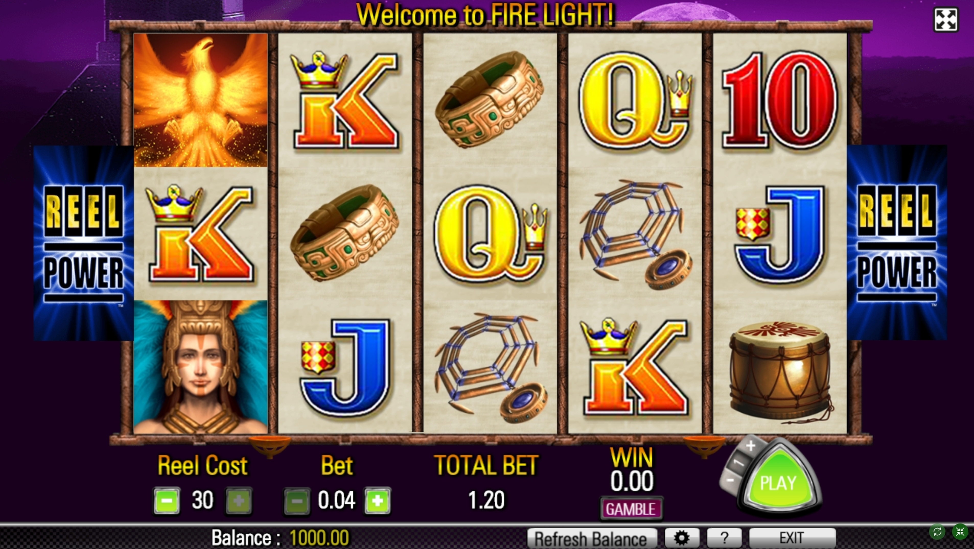Reels in Firelight Slot Game by Aristocrat
