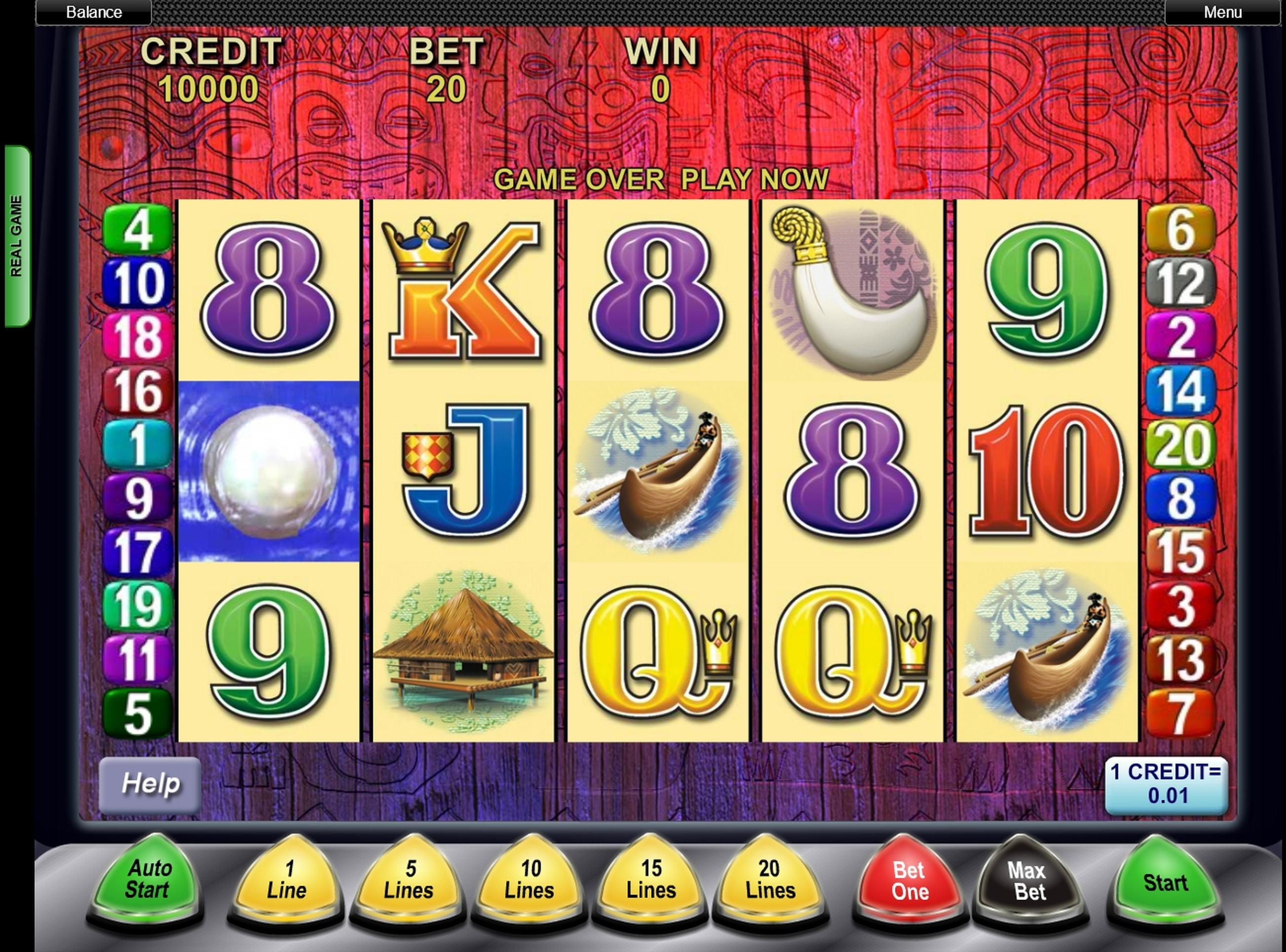 Reels in Tiki Torch Slot Game by Aristocrat