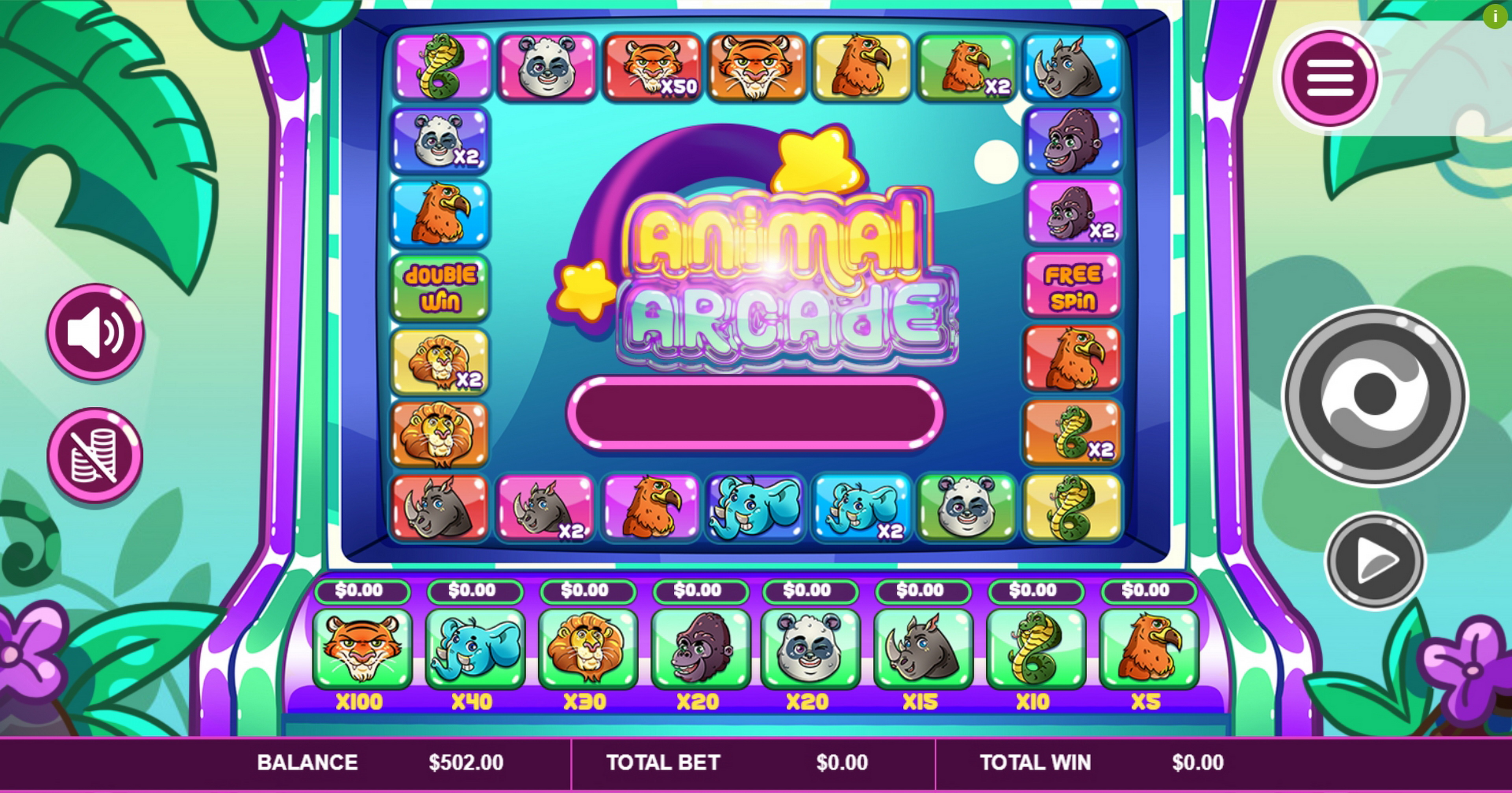 Reels in Animal Arcade Slot Game by Arrows Edge