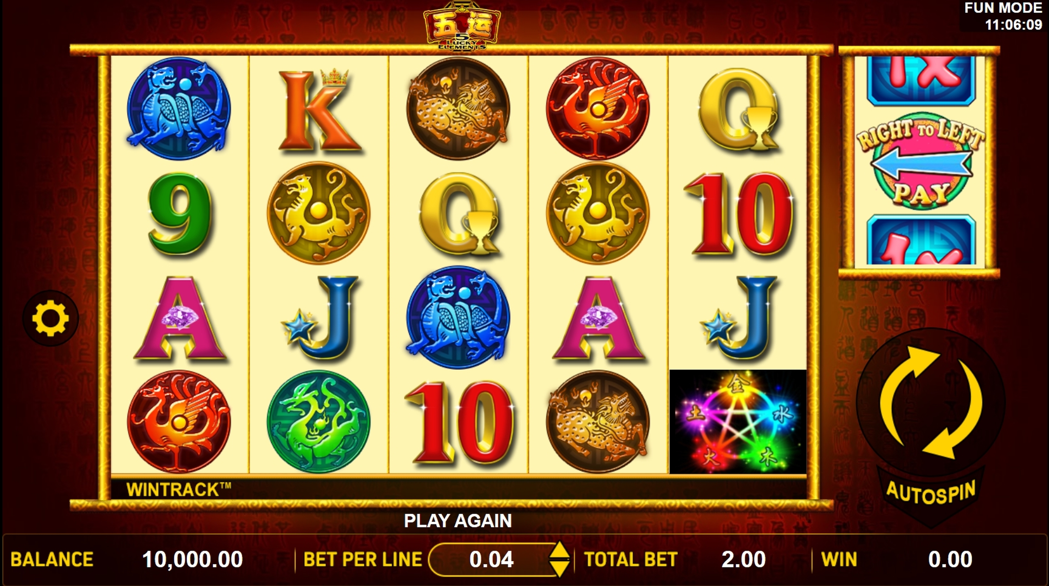 Reels in 5 Lucky Elements Slot Game by Aspect Gaming