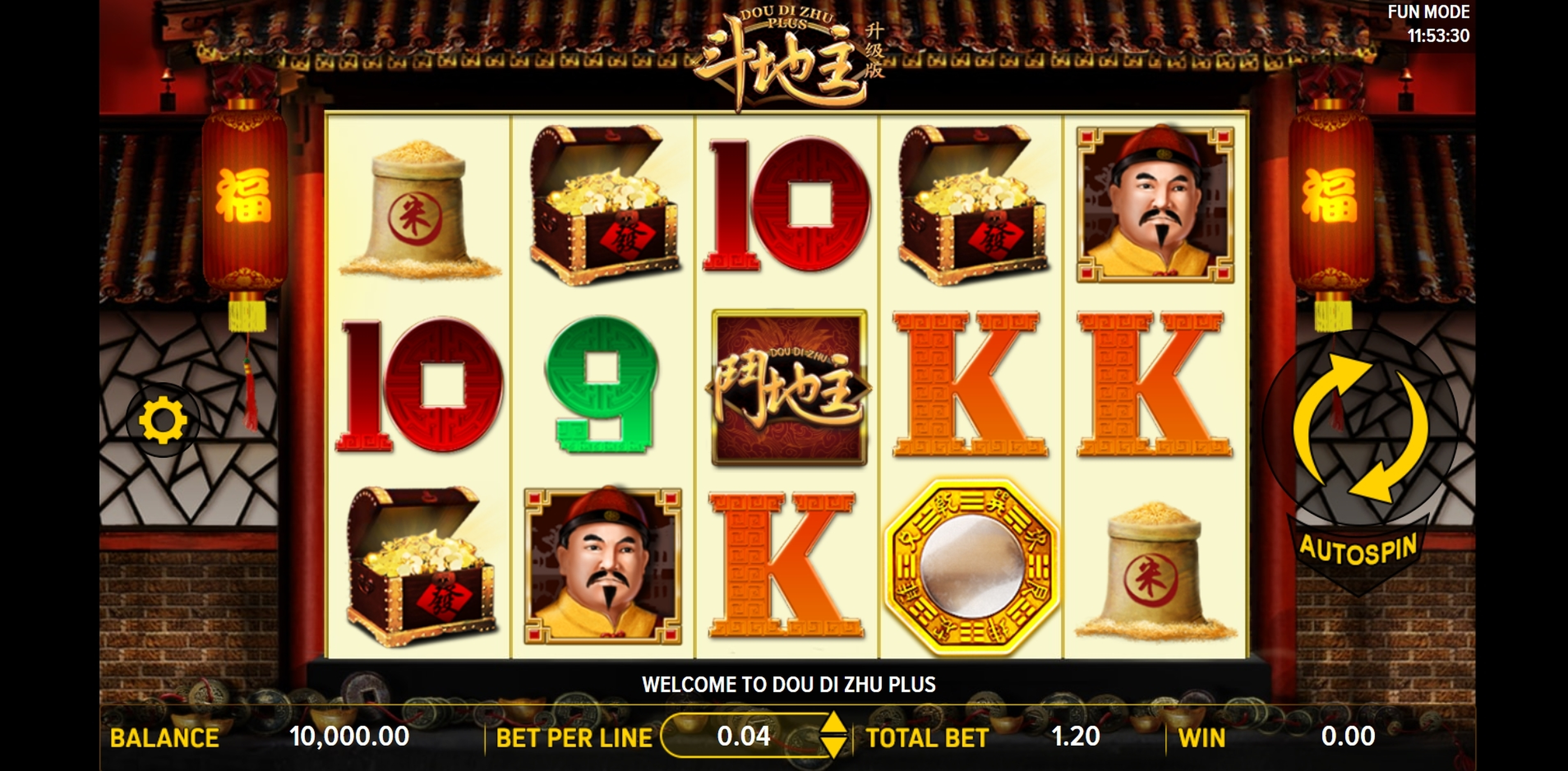 Reels in Dou Di Zhu Plus Slot Game by Aspect Gaming