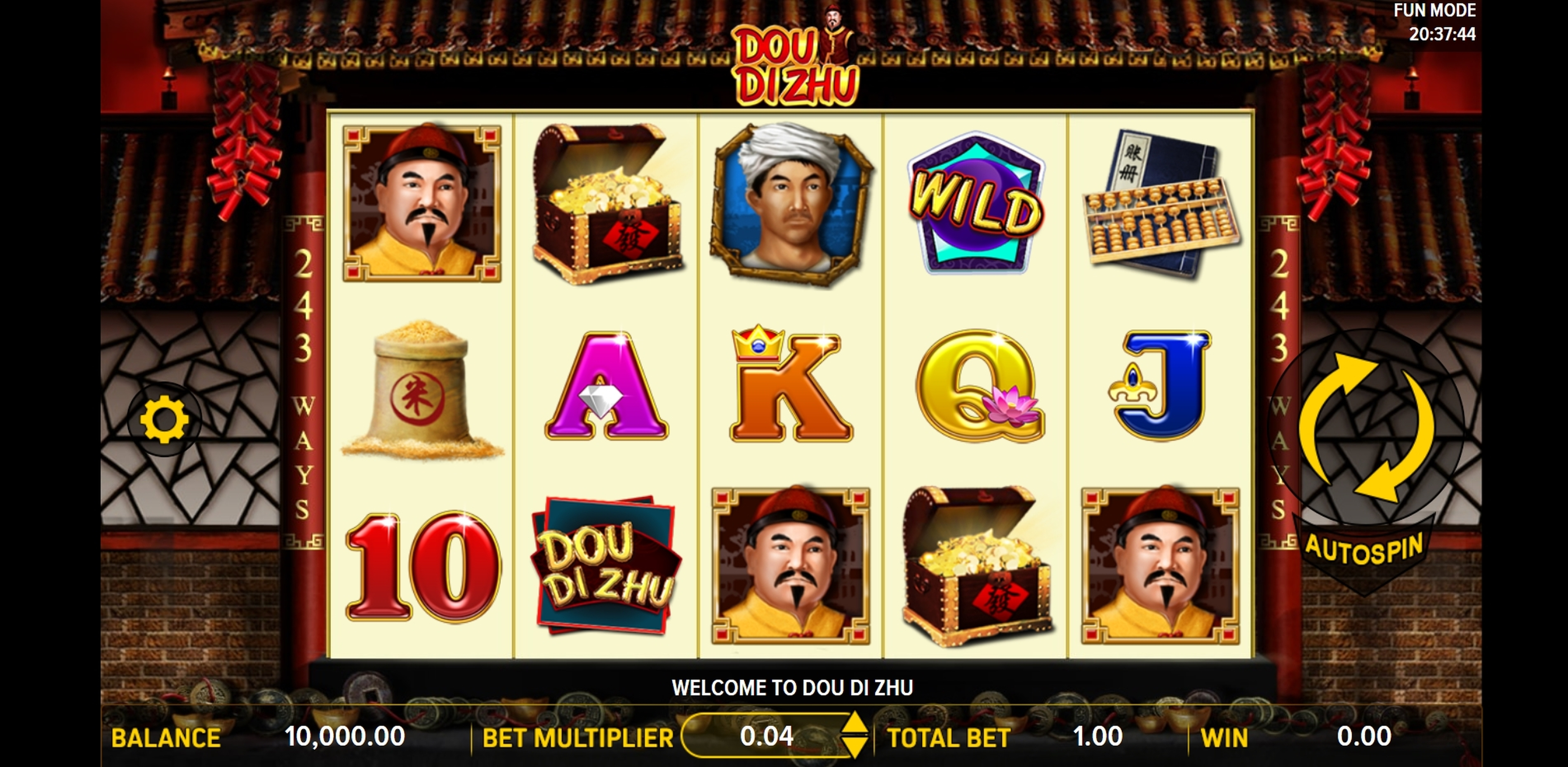Reels in Dou Di Zhu Slot Game by Aspect Gaming