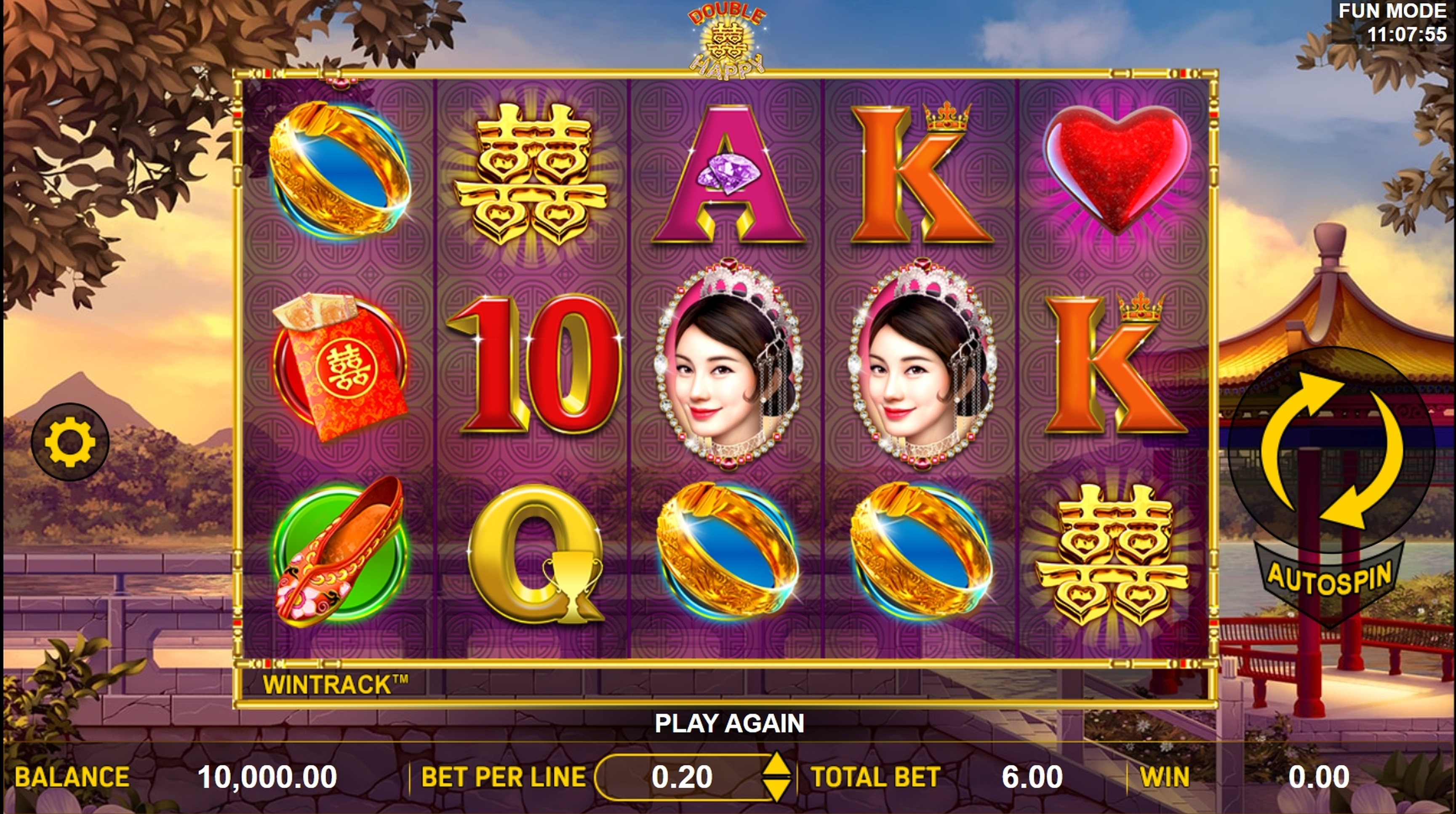 Reels in Double Happy Slot Game by Aspect Gaming