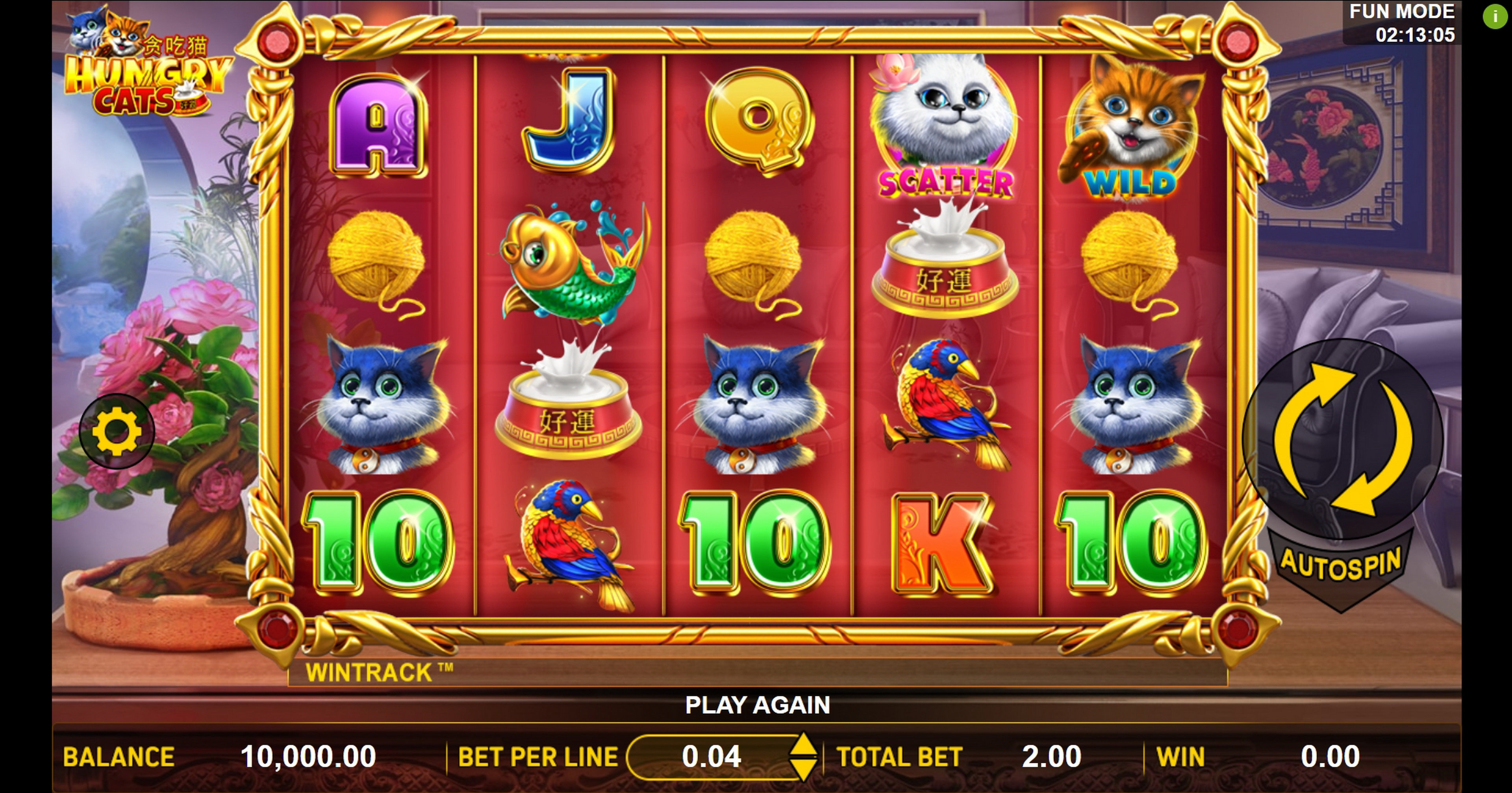 Reels in Hungry Cats Slot Game by Aspect Gaming