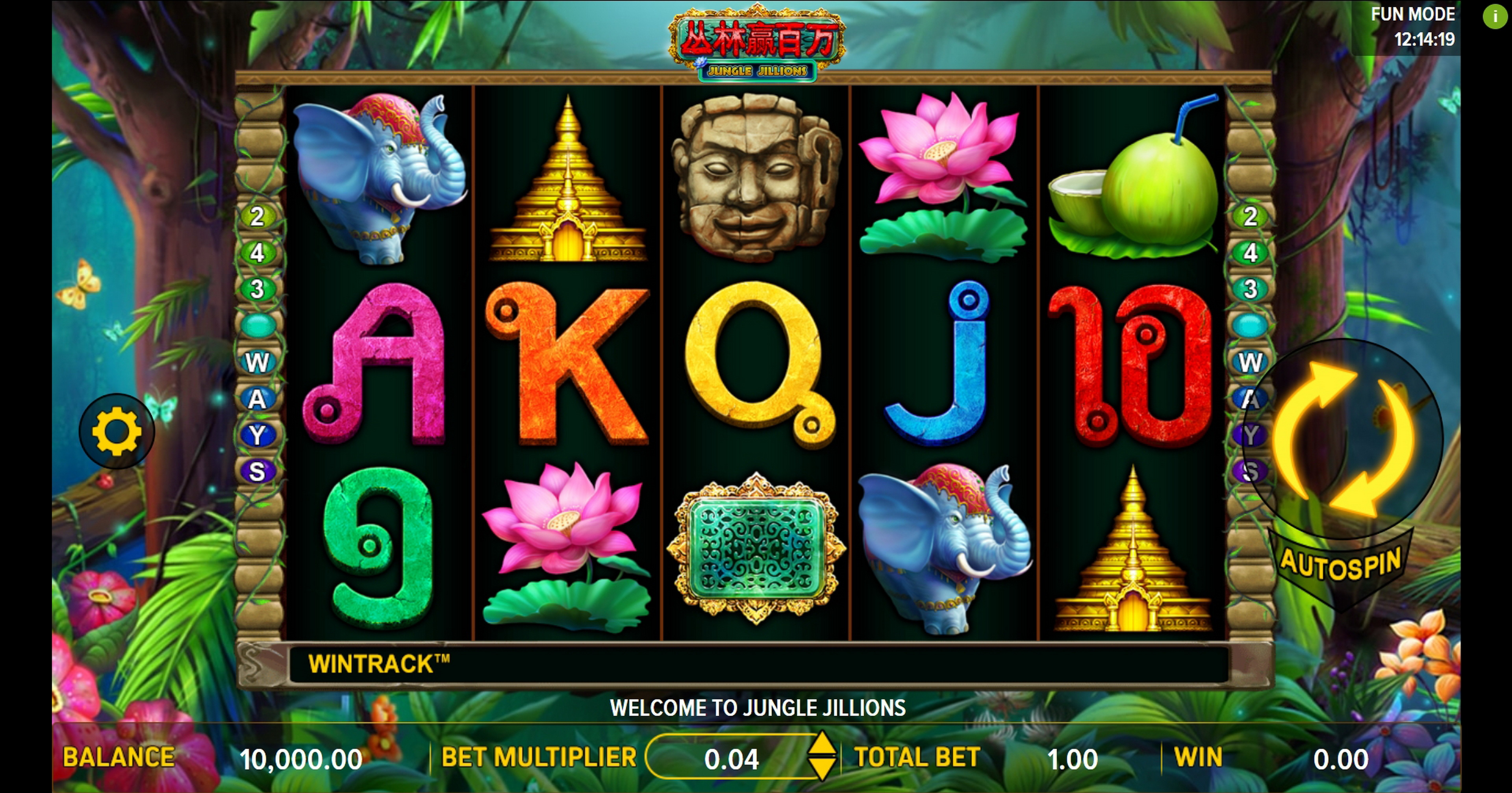Reels in Jungle Jillions Slot Game by Aspect Gaming