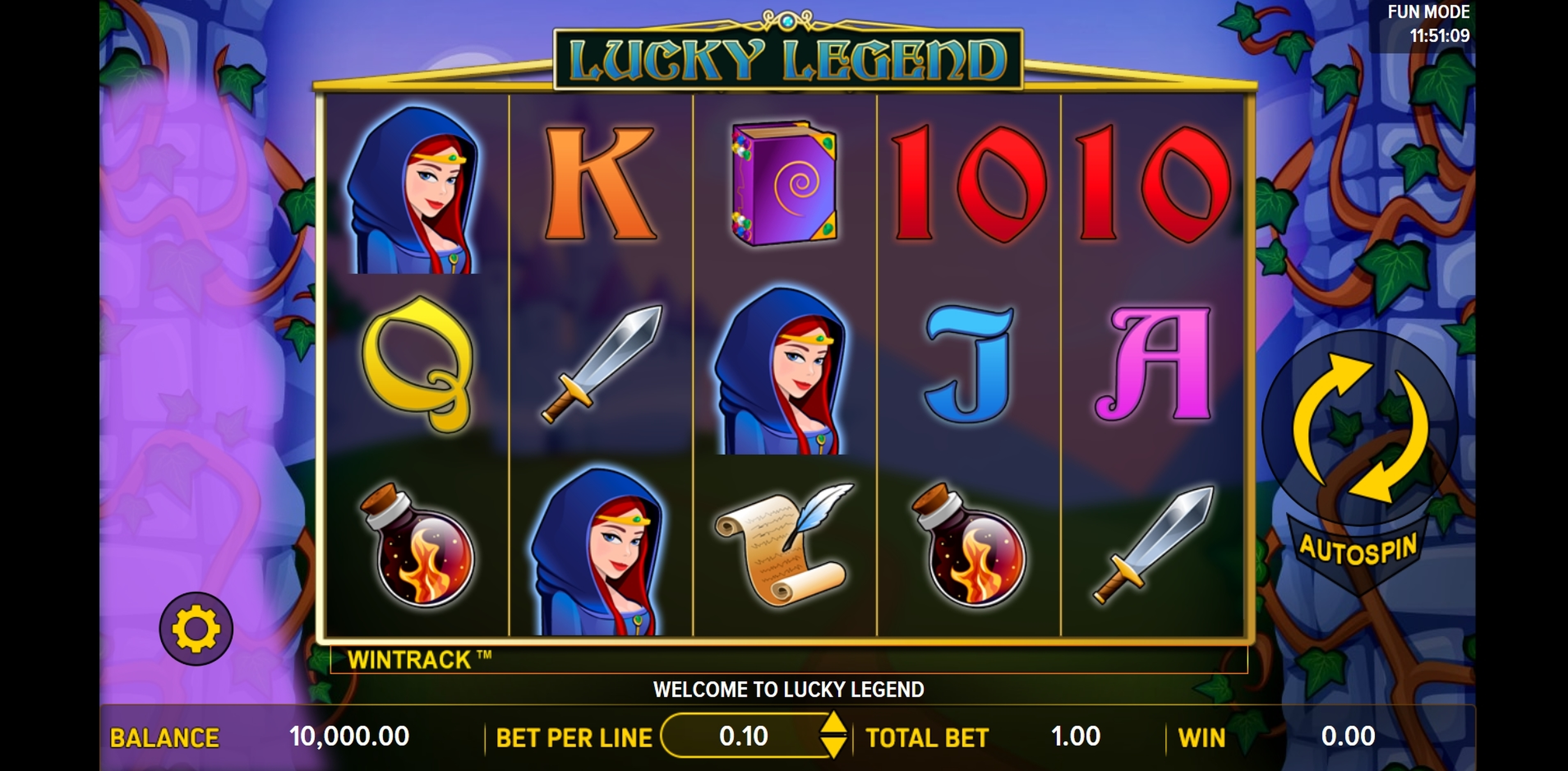 Reels in Lucky Legend Slot Game by Aspect Gaming
