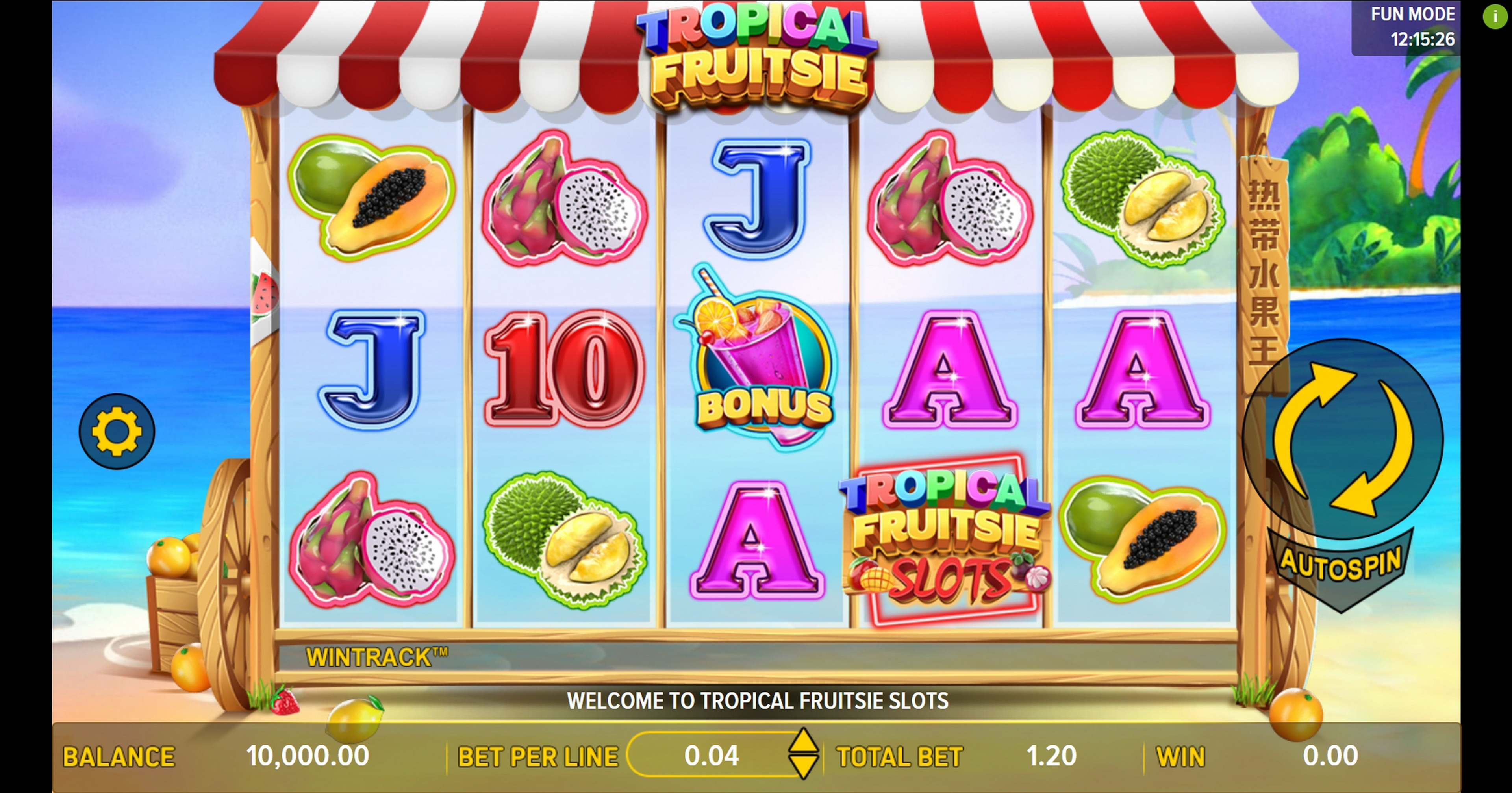 Reels in Tropical Fruitsie Slots Slot Game by Aspect Gaming
