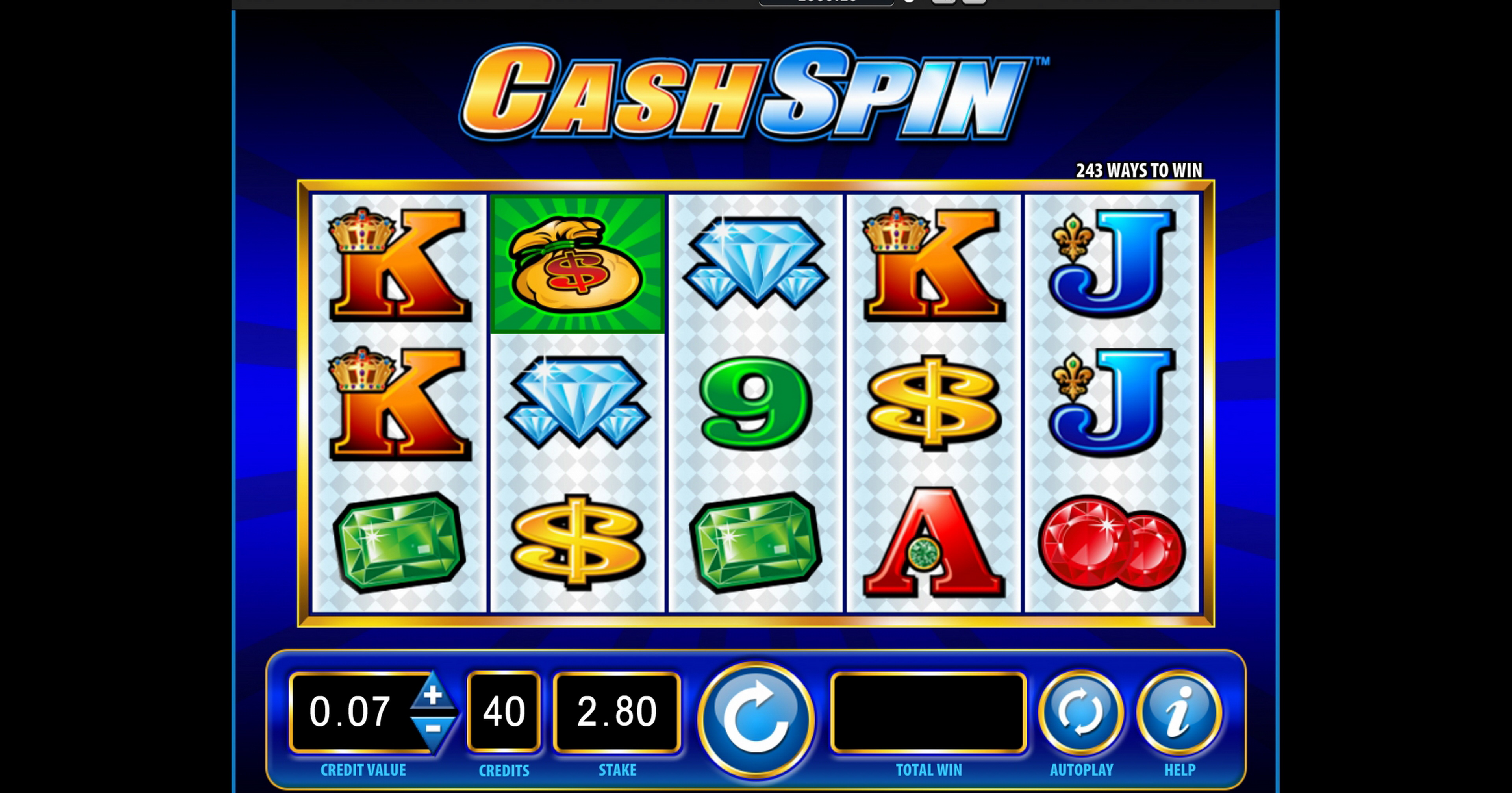 Reels in Cash Spin Slot Game by Bally Technologies