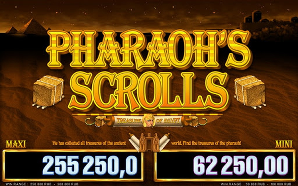 The Pharaohs Scrolls Luxe Online Slot Demo Game by Belatra Games