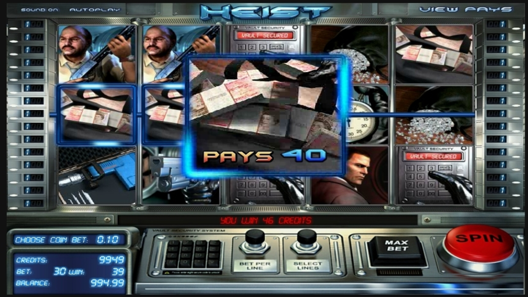 Win Money in Heist (Betsoft) Free Slot Game by Betsoft