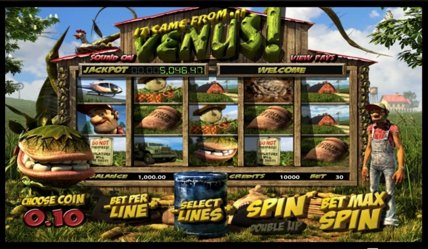 Reels in It Came From Venus Slot Game by Betsoft