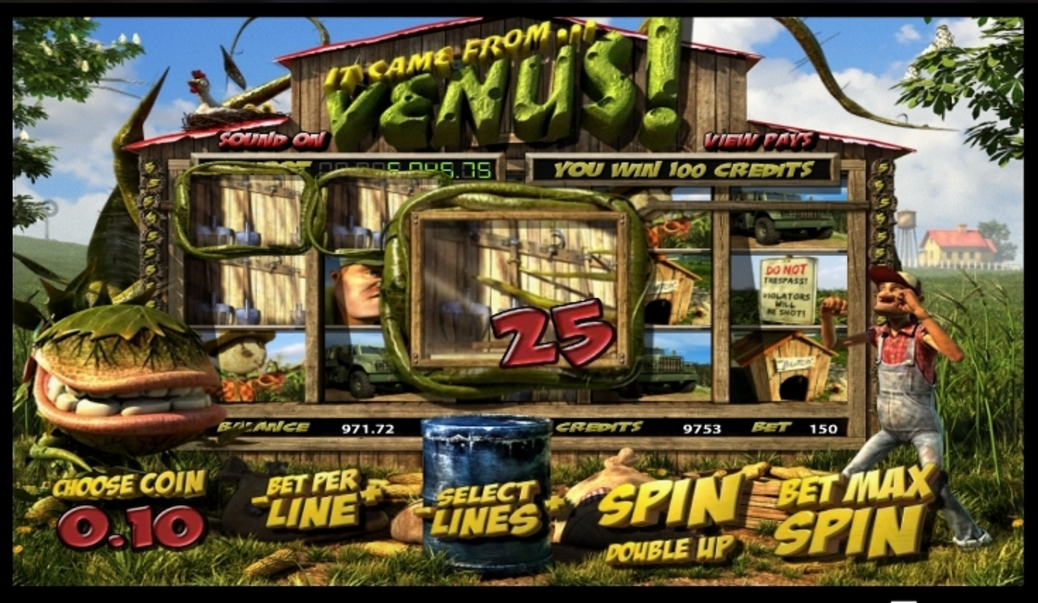 Win Money in It Came From Venus Free Slot Game by Betsoft