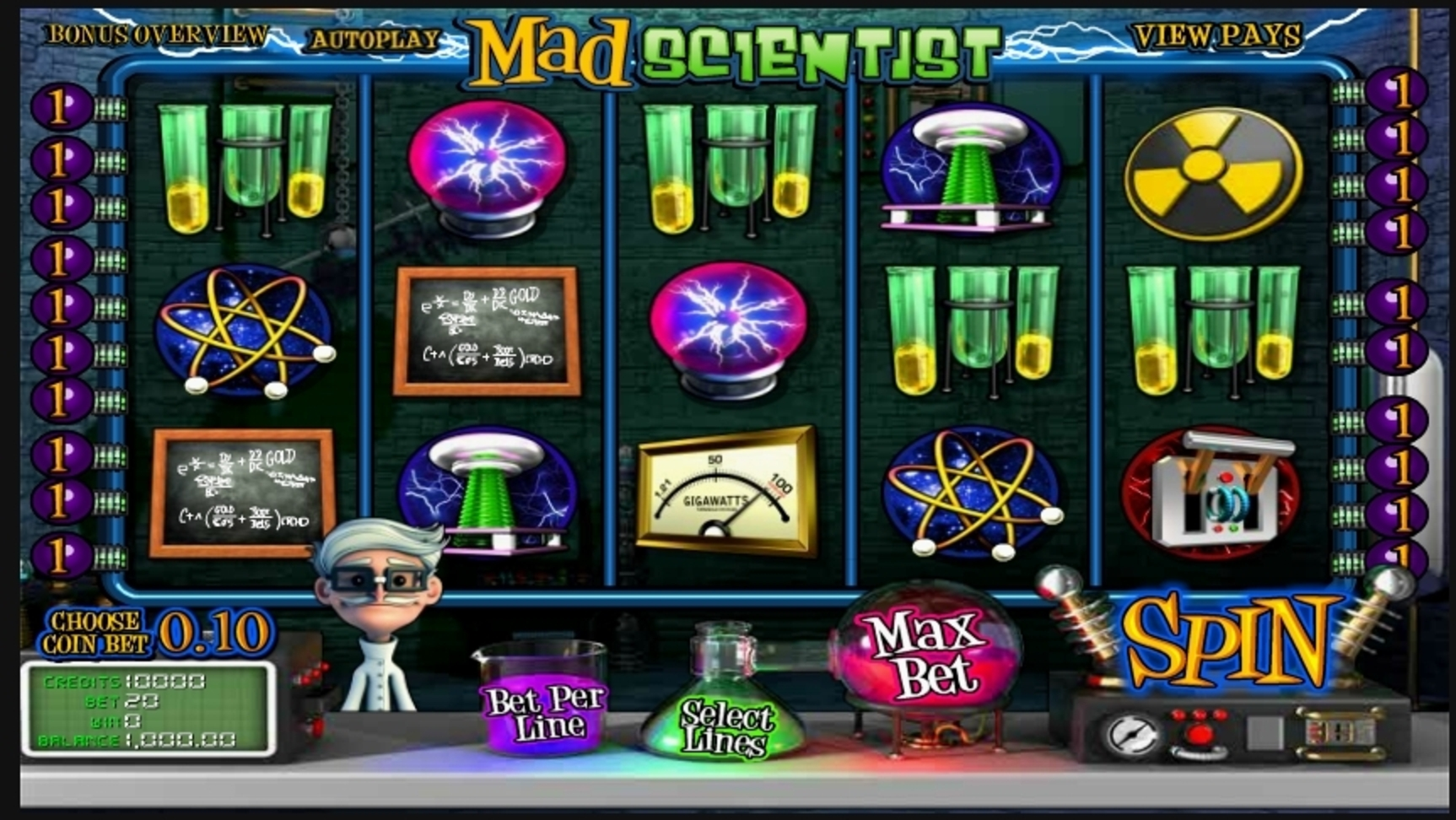 Reels in Mad Scientist Slot Game by Betsoft