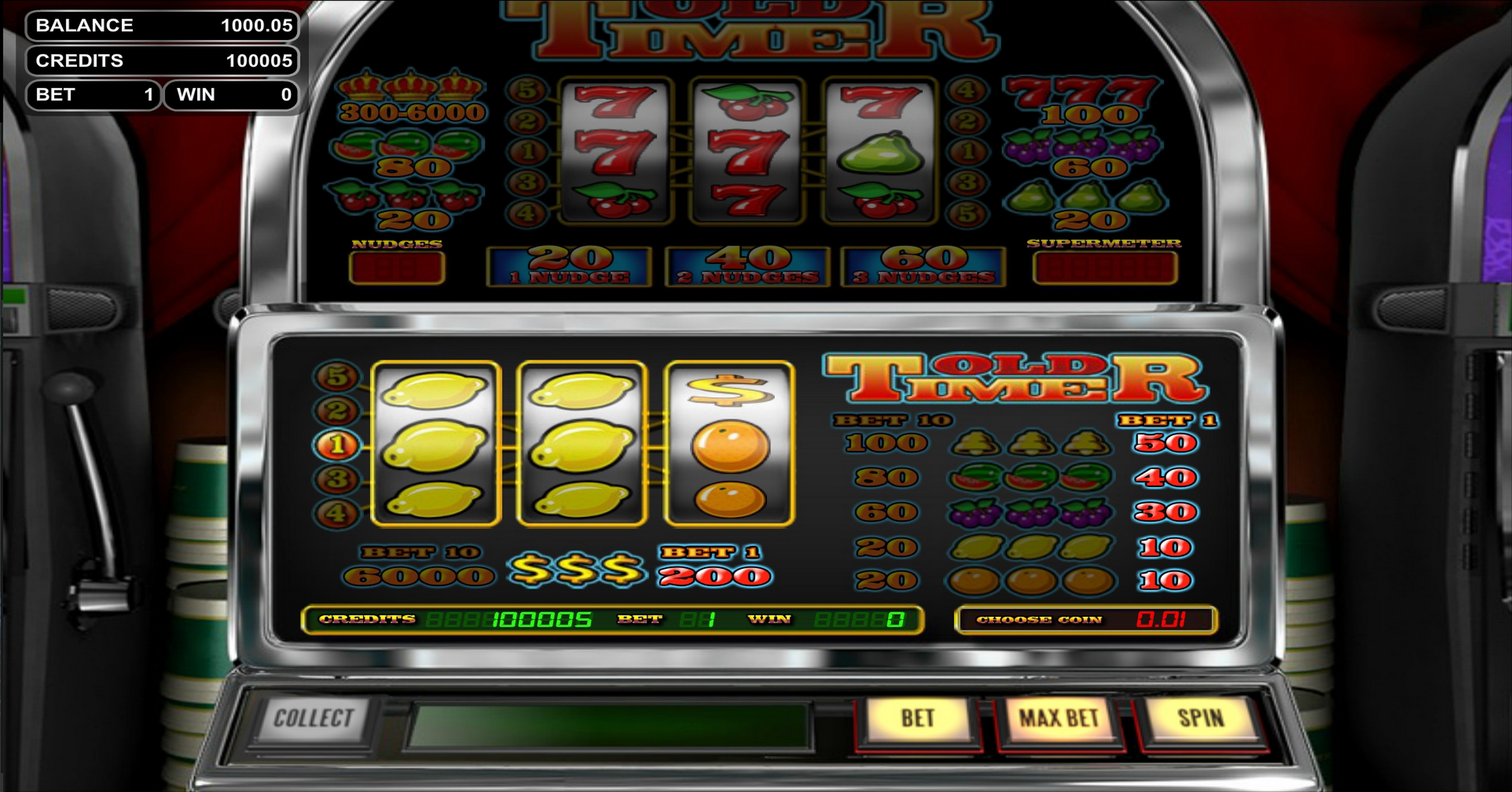 Info of Old Timer Slot Game by Betsoft