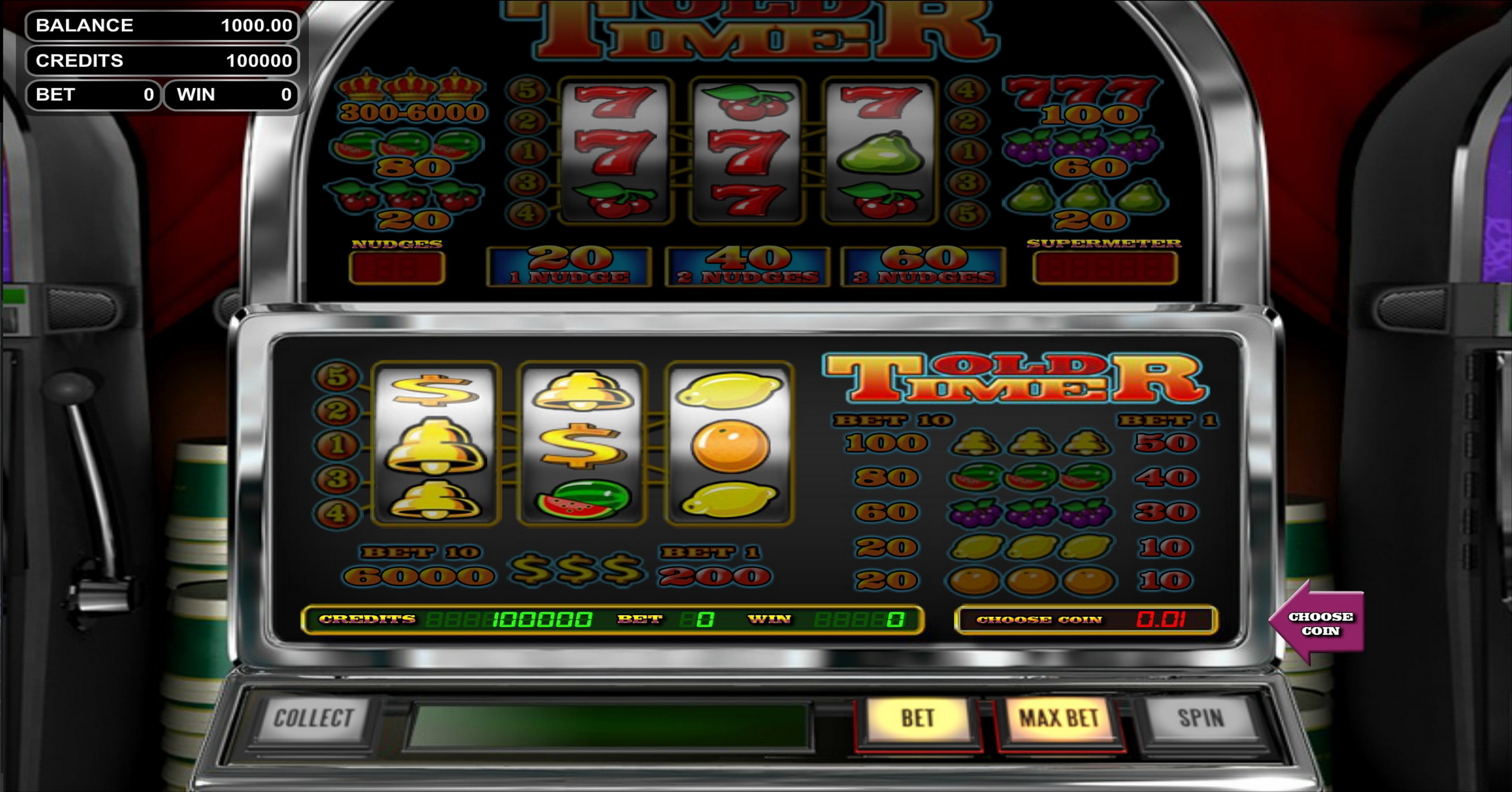 Reels in Old Timer Slot Game by Betsoft