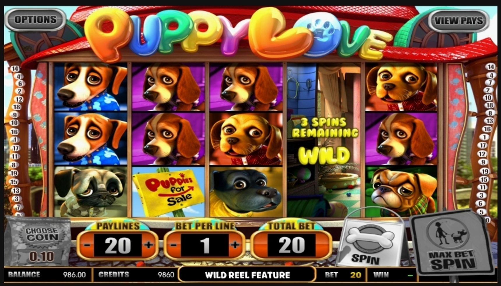 Win Money in Puppy Love Free Slot Game by Betsoft