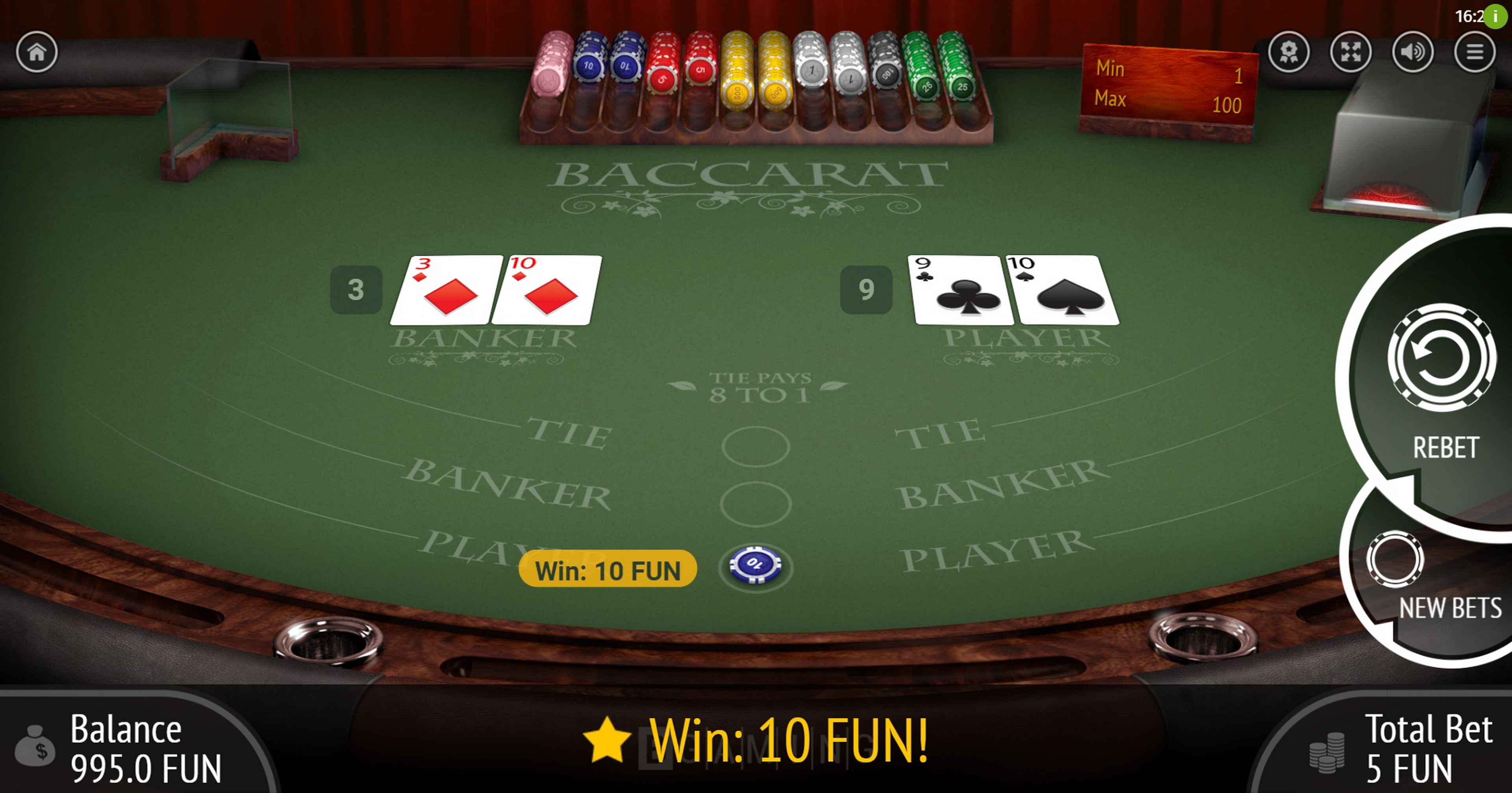 Win Money in Baccarat (BGaming) Free Slot Game by BGAMING