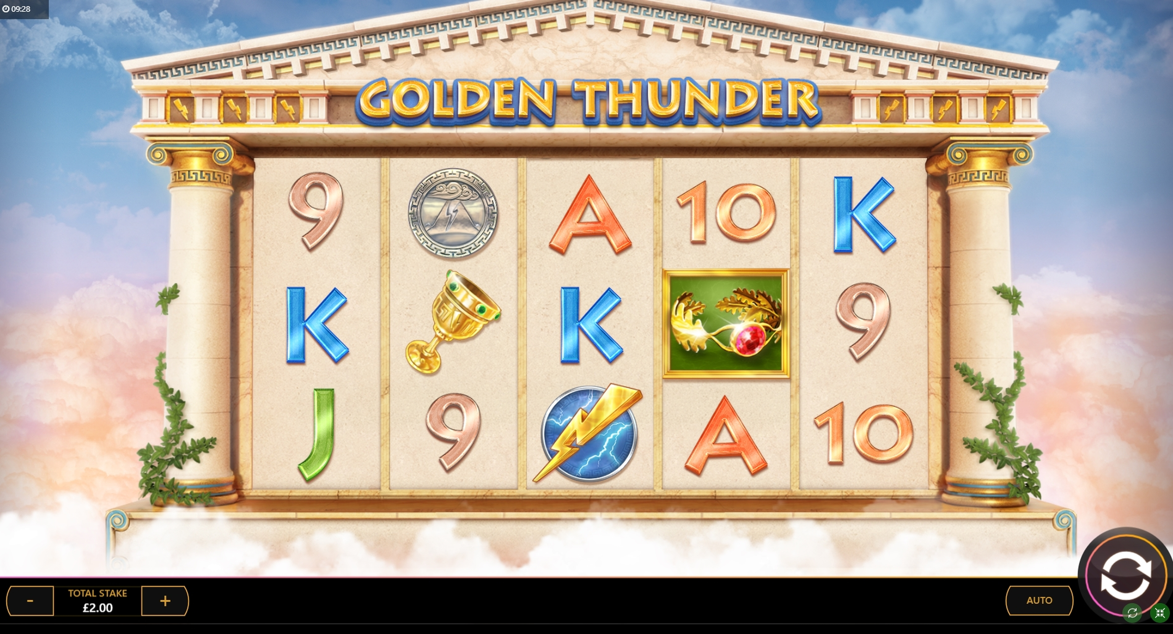 Reels in Golden Thunder Slot Game by Cayetano Gaming