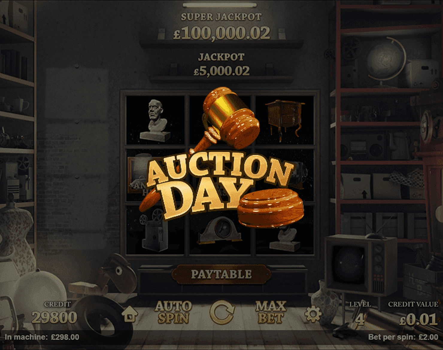 The Auction Day Online Slot Demo Game by Magnet Gaming